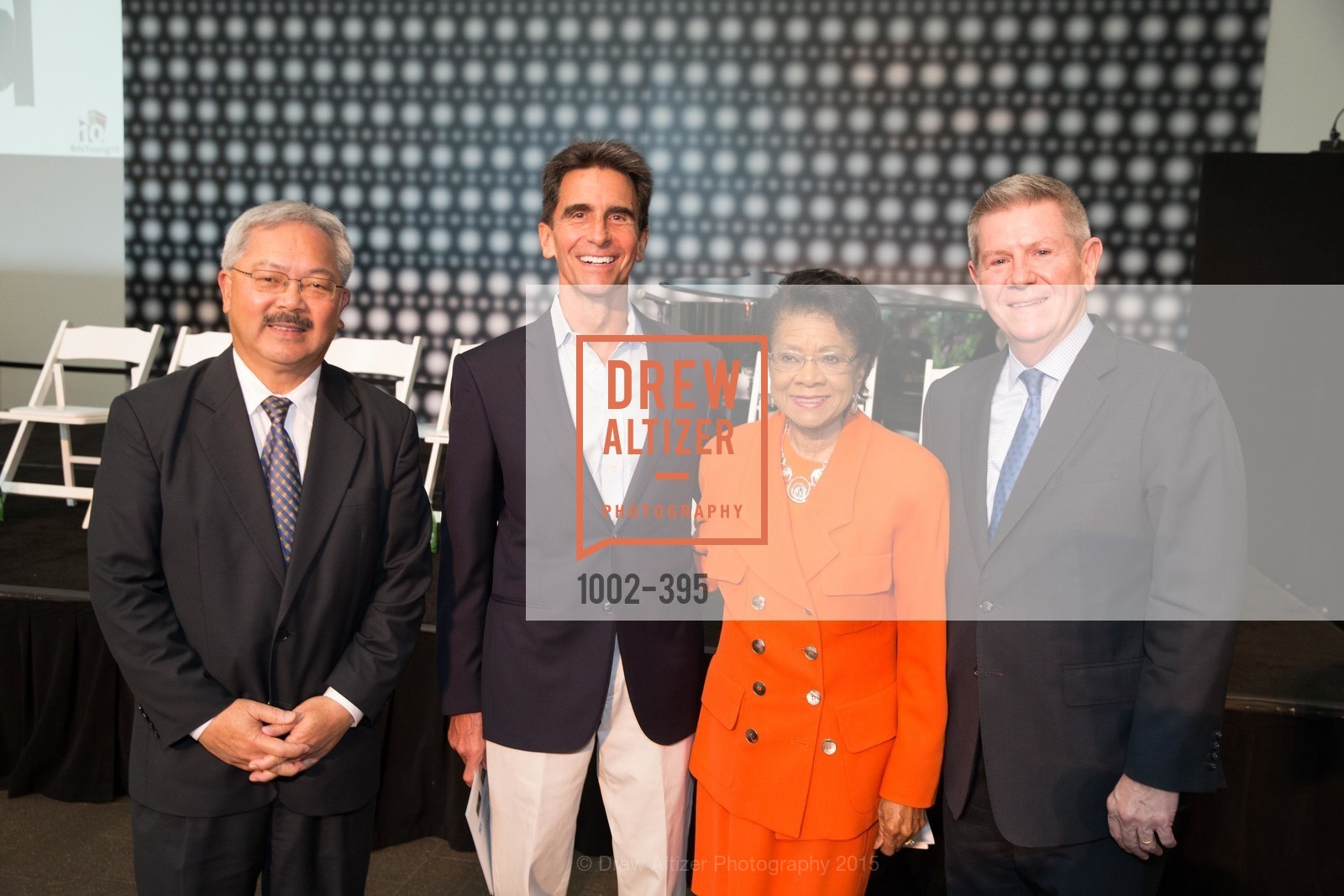 Ed Lee, Mark Leno, Belva Davis, Richard Benefield, 10th Anniversary of the new de Young: Community Day, de Young Museum, October 17th, 2015,Drew Altizer, Drew Altizer Photography, full-service agency, private events, San Francisco photographer, photographer california