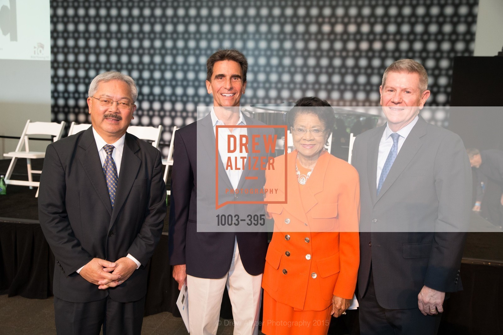 Mayor Ed Lee, Mark Leno, Belva Davis, Richard Benefield, 10th Anniversary of the new de Young: Community Day, de Young Museum, October 17th, 2015,Drew Altizer, Drew Altizer Photography, full-service agency, private events, San Francisco photographer, photographer california