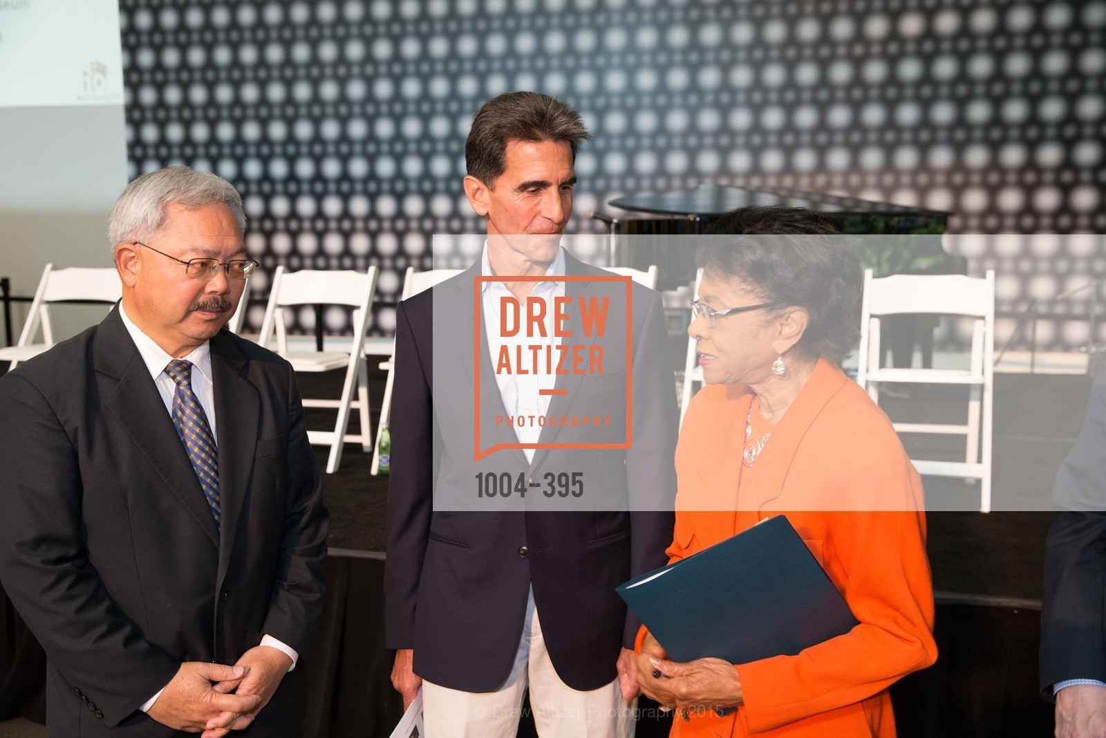 Ed Lee, Mark Leno, Belva Davis, 10th Anniversary of the new de Young: Community Day, de Young Museum, October 17th, 2015,Drew Altizer, Drew Altizer Photography, full-service agency, private events, San Francisco photographer, photographer california