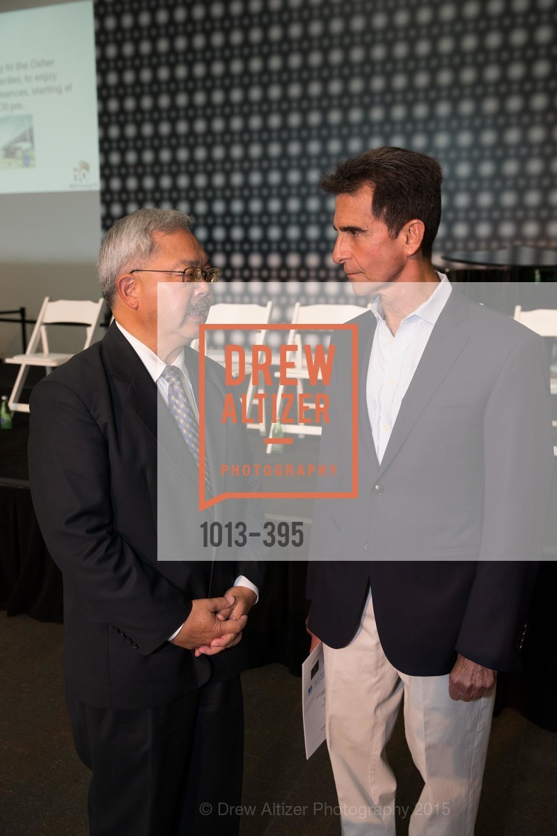 Ed Lee, Mark Leno, 10th Anniversary of the new de Young: Community Day, de Young Museum, October 17th, 2015