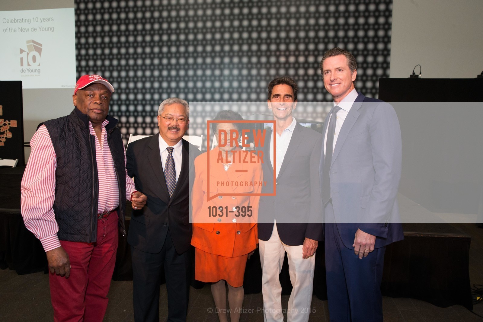Willie Brown, Ed Lee, Belva Davis, Mark Leno, Gavin Newsom, 10th Anniversary of the new de Young: Community Day, de Young Museum, October 17th, 2015,Drew Altizer, Drew Altizer Photography, full-service agency, private events, San Francisco photographer, photographer california