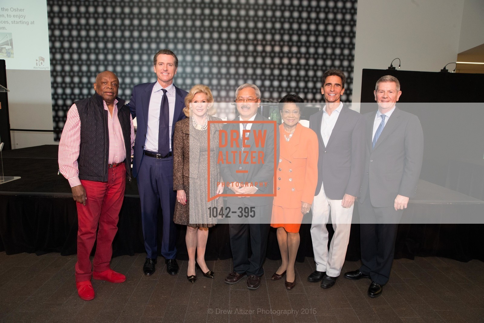Willie Brown, Gavin Newsom, Dede Wilsey, Ed Lee, Belva Davis, Mark Leno, Richard Benefield, 10th Anniversary of the new de Young: Community Day, de Young Museum, October 17th, 2015,Drew Altizer, Drew Altizer Photography, full-service agency, private events, San Francisco photographer, photographer california