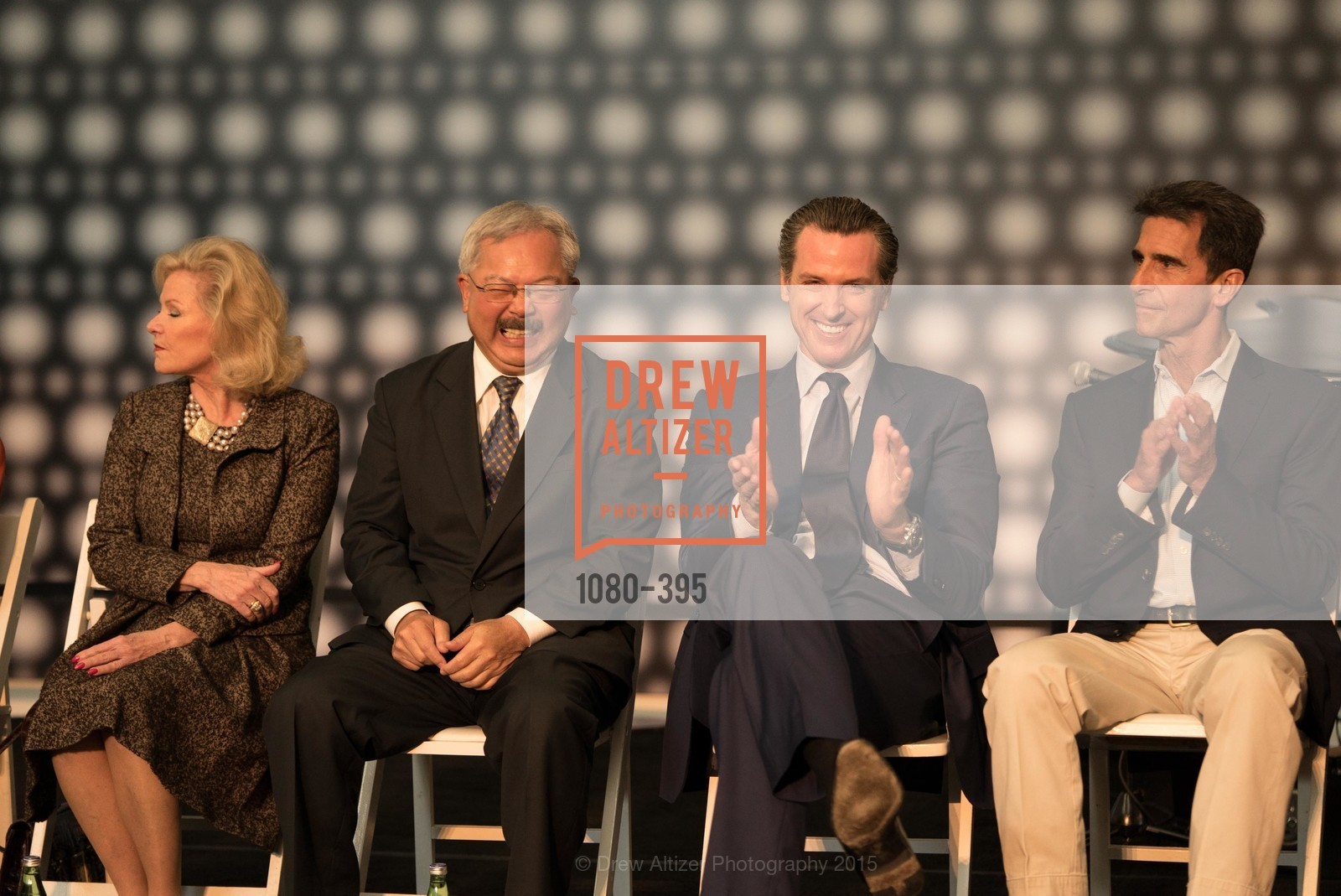 Dede Wilsey, Mayor Ed Lee, Gavin Newsom, Mark Leno, 10th Anniversary of the new de Young: Community Day, de Young Museum, October 17th, 2015,Drew Altizer, Drew Altizer Photography, full-service agency, private events, San Francisco photographer, photographer california