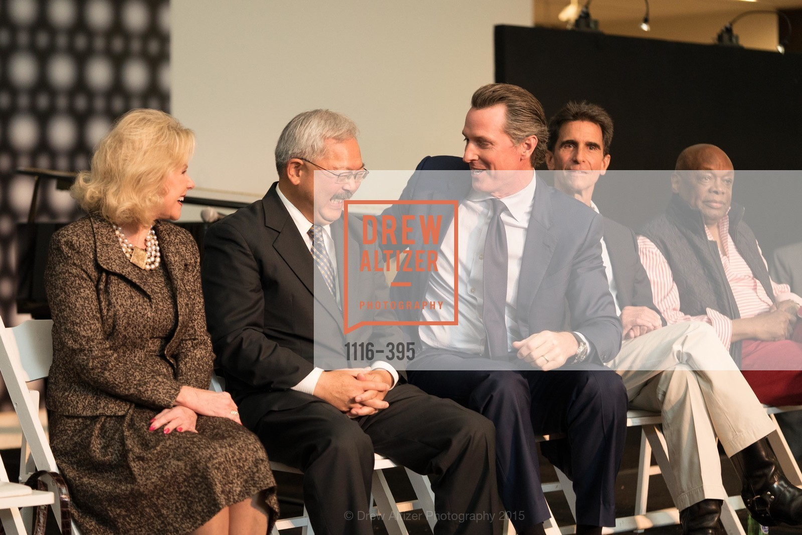 Dede Wilsey, Mayor Ed Lee, Gavin Newsom, Mark Leno, Willie Brown, 10th Anniversary of the new de Young: Community Day, de Young Museum, October 17th, 2015,Drew Altizer, Drew Altizer Photography, full-service agency, private events, San Francisco photographer, photographer california