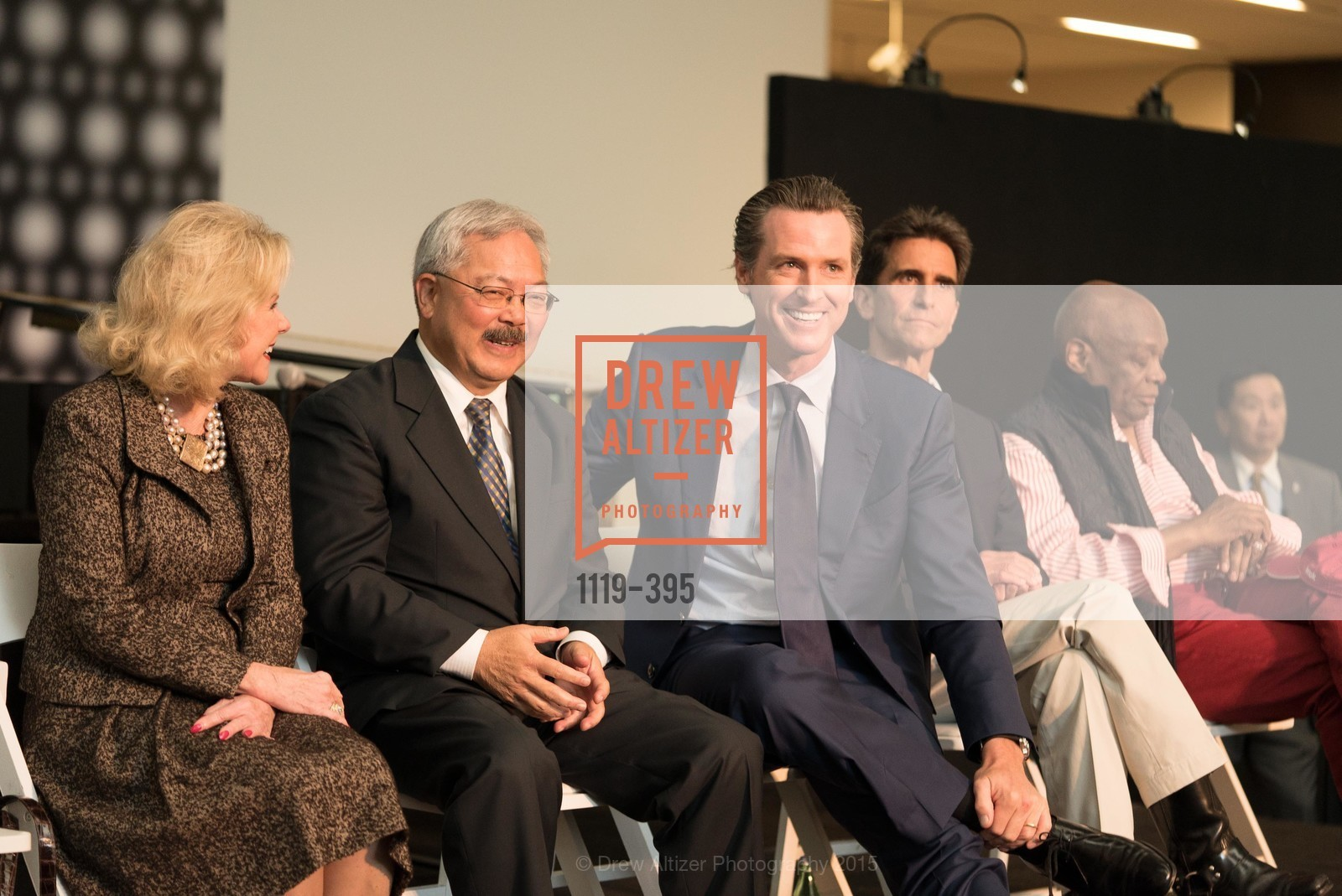 Dede Wilsey, Ed Lee, Gavin Newsom, Mark Leno, Willie Brown, 10th Anniversary of the new de Young: Community Day, de Young Museum, October 17th, 2015