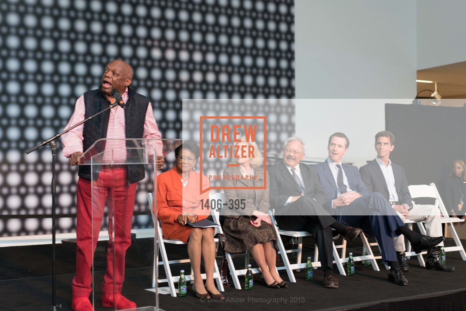 Willie Brown, Belva Davis, Dede Wilsey, Mayor Ed Lee, Gavin Newsom, Mark Leno, 10th Anniversary of the new de Young: Community Day, de Young Museum, October 17th, 2015,Drew Altizer, Drew Altizer Photography, full-service agency, private events, San Francisco photographer, photographer california