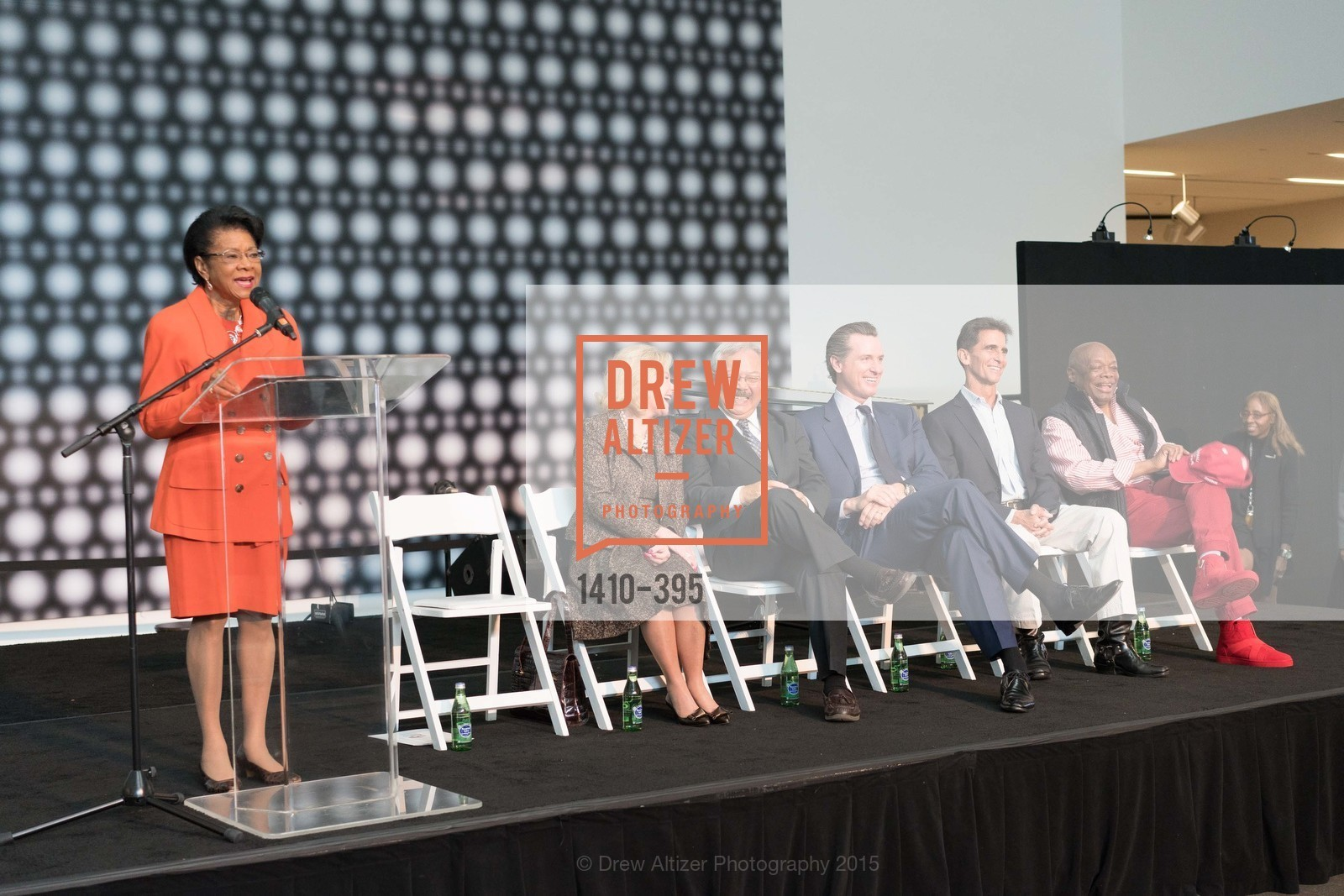 Belva Davis, Dede Wilsey, Mayor Ed Lee, Gavin Newsom, Mark Leno, Willie Brown, 10th Anniversary of the new de Young: Community Day, de Young Museum, October 17th, 2015,Drew Altizer, Drew Altizer Photography, full-service agency, private events, San Francisco photographer, photographer california