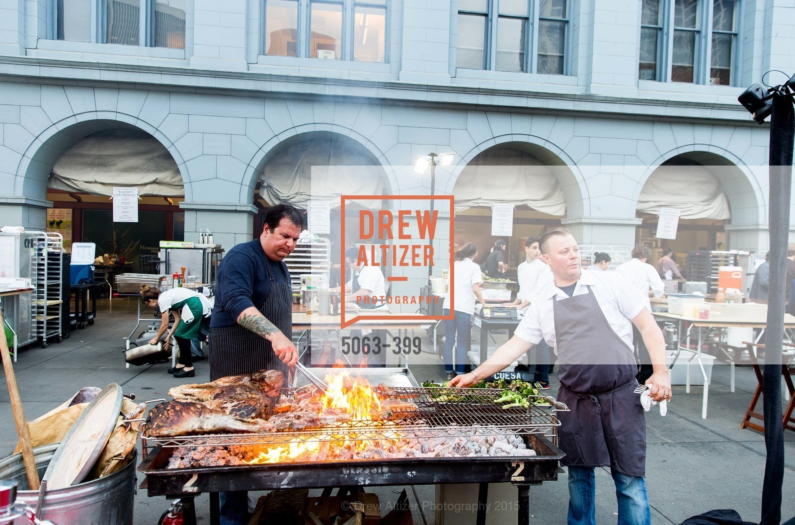 Rocky Maselli, Evan Rich (L To R), CUESA's Sunday Supper: A Farm to City Feast, San Francisco Ferry Building, October 18th, 2015,Drew Altizer, Drew Altizer Photography, full-service agency, private events, San Francisco photographer, photographer california