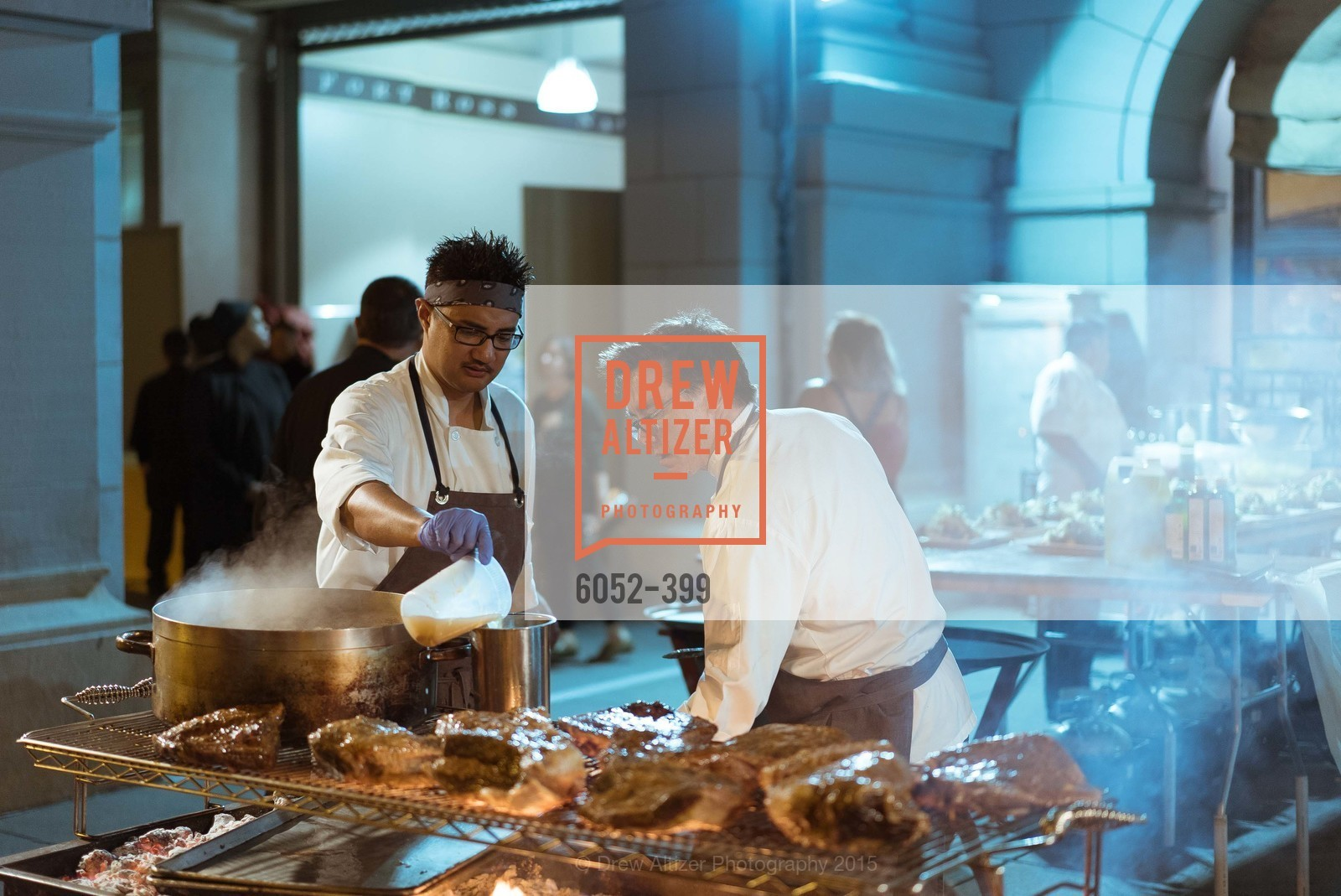 Mel Alog, Mark Sullivan, CUESA's Sunday Supper: A Farm to City Feast, San Francisco Ferry Building, October 18th, 2015
