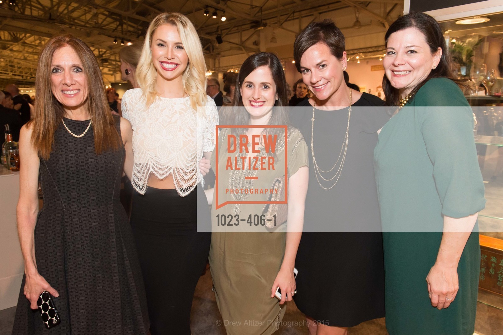 Monica Swingle, Sarah Waterson, Eliza Gould, Nina Proctor, Gracie Hurtado, The San Francisco Fall Antiques Show, Festival Pavilion, Fort Mason, October 21st, 2015,Drew Altizer, Drew Altizer Photography, full-service agency, private events, San Francisco photographer, photographer california