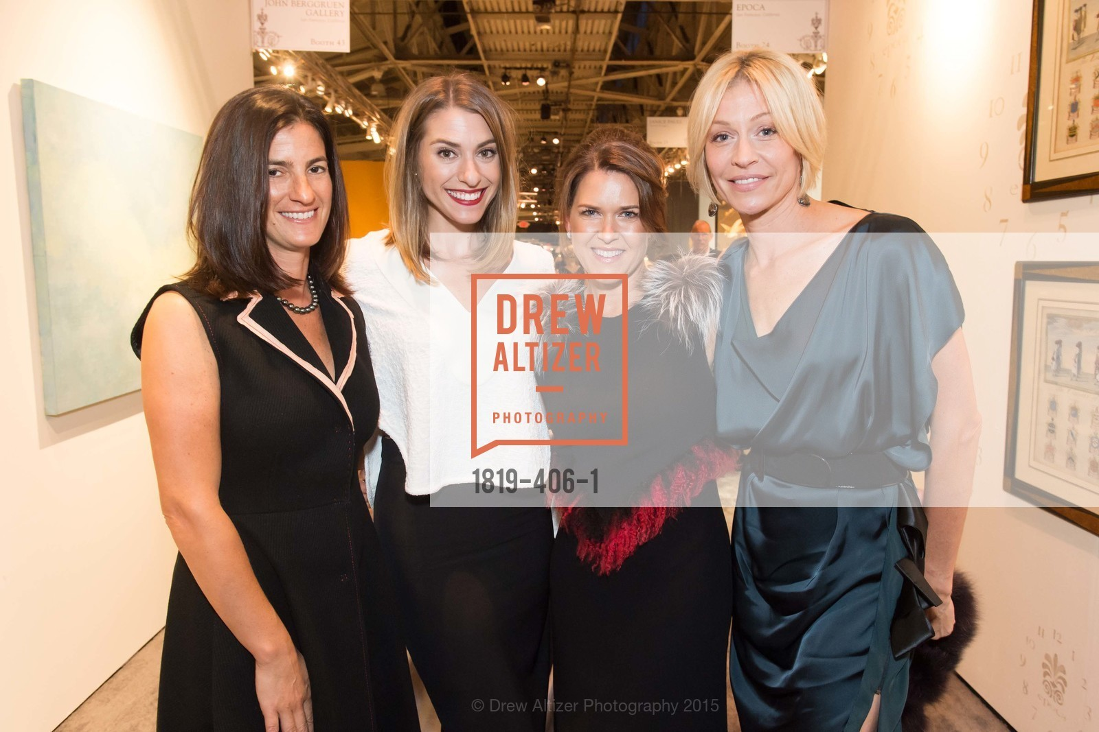 Nancy Kaye, Kristin Bassi, Linda Wilkinson, TIna McCutcheon, The San Francisco Fall Antiques Show, Festival Pavilion, Fort Mason, October 21st, 2015,Drew Altizer, Drew Altizer Photography, full-service agency, private events, San Francisco photographer, photographer california
