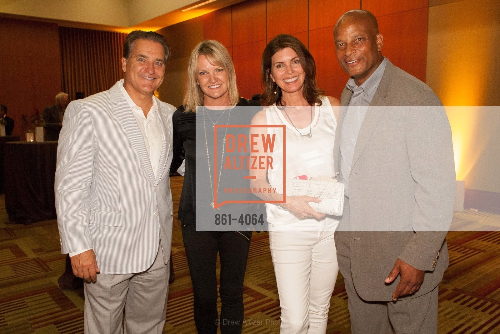 Steve Mariucci, Gayle Mariucci, Karen Lott, Ronnie Lott, Photo #861-4064