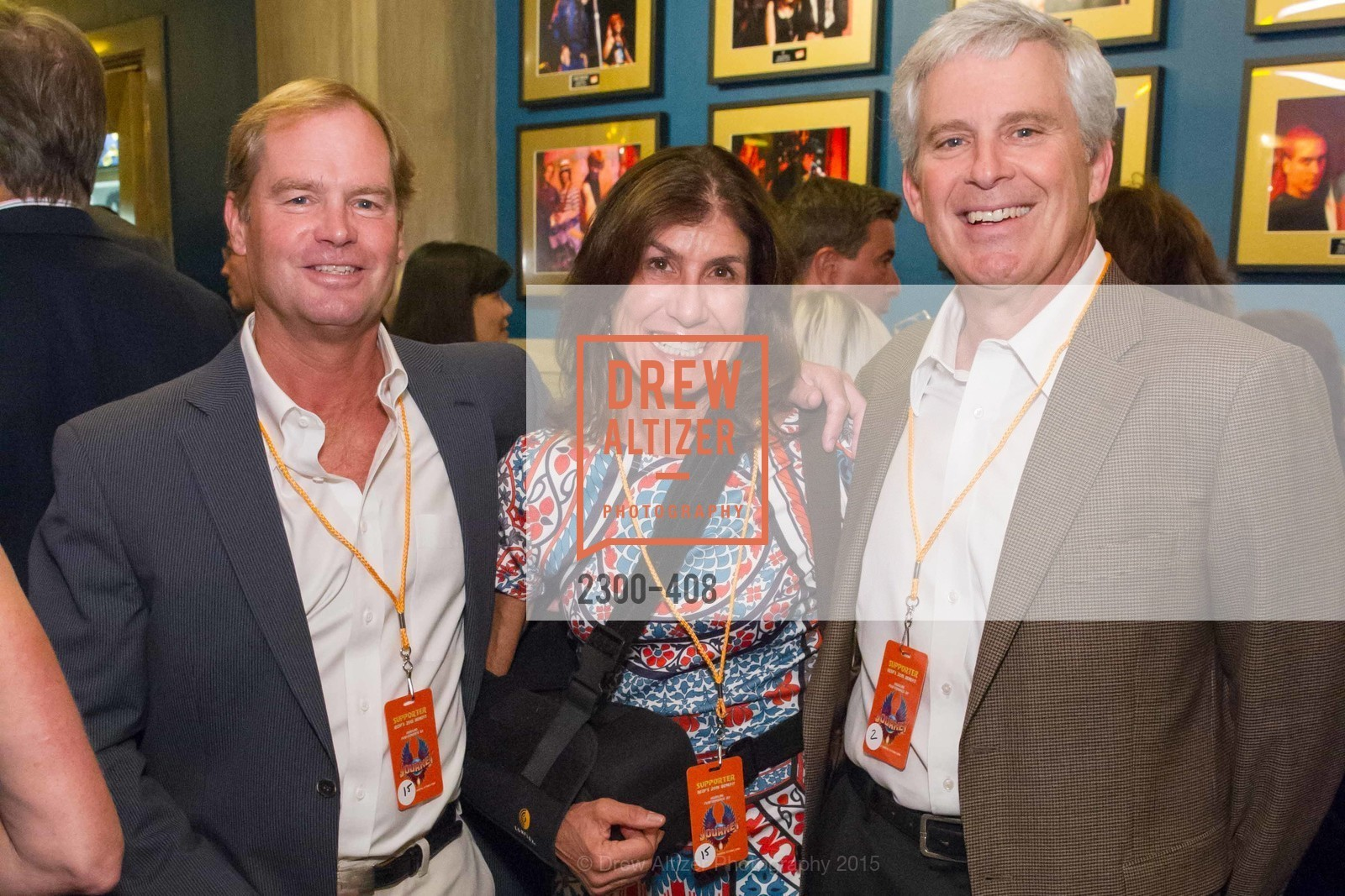 Brian Parr, Sally Parr, Dave Hood, REDF's 2015 BENEFIT featuring JOURNEY, The Warfield Theatre. 982 Market St, October 22nd, 2015