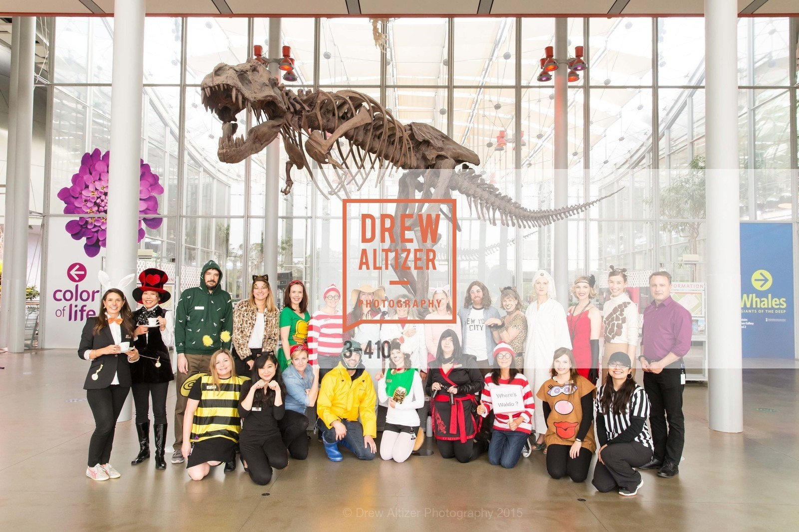 Group Picture, California Academy of Sciences Presents SuperNatural Halloween 2015, California Academy of Science. 	55 Music Concourse Dr, October 23rd, 2015,Drew Altizer, Drew Altizer Photography, full-service agency, private events, San Francisco photographer, photographer california
