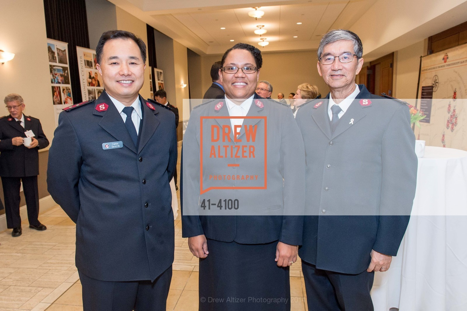 Cpt. David Oh, Regina Shull, Maj. Thomas Mui, Photo #41-4100