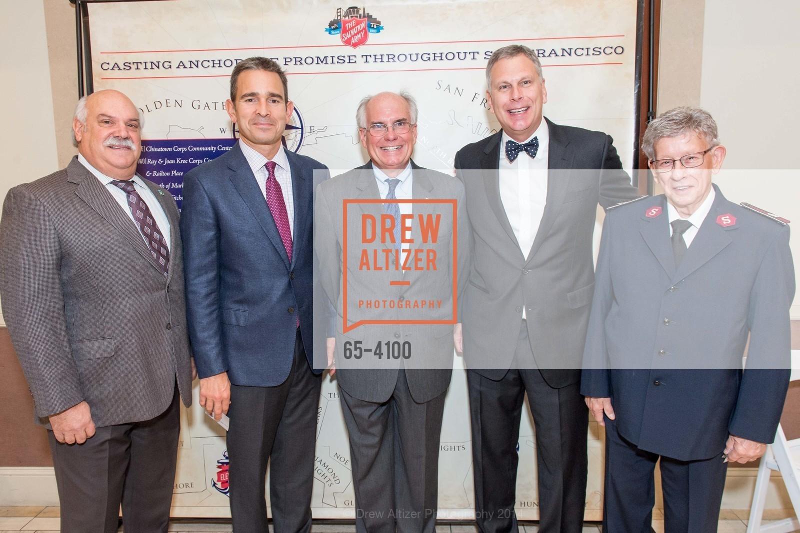 Rich Borghello, Dirk Gilliard, Pete Ratto, Ernst Bauer, Lt.Col. Ritz Love, Photo #65-4100