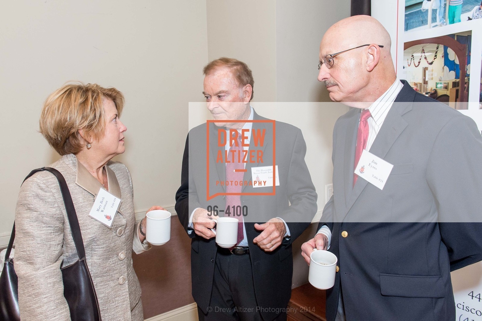Mary Beth Warman, The Honorable Mayor Frank Jordan, Jim Eyres, Photo #96-4100