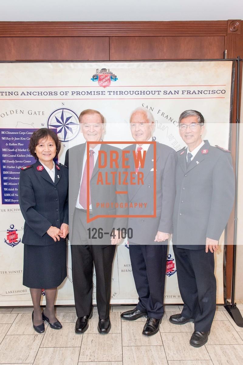 Maj. Joy Mui, The Honorable Mayor Frank Jordan, RADM John Bitoff, Maj. Thomas Mui, Photo #126-4100