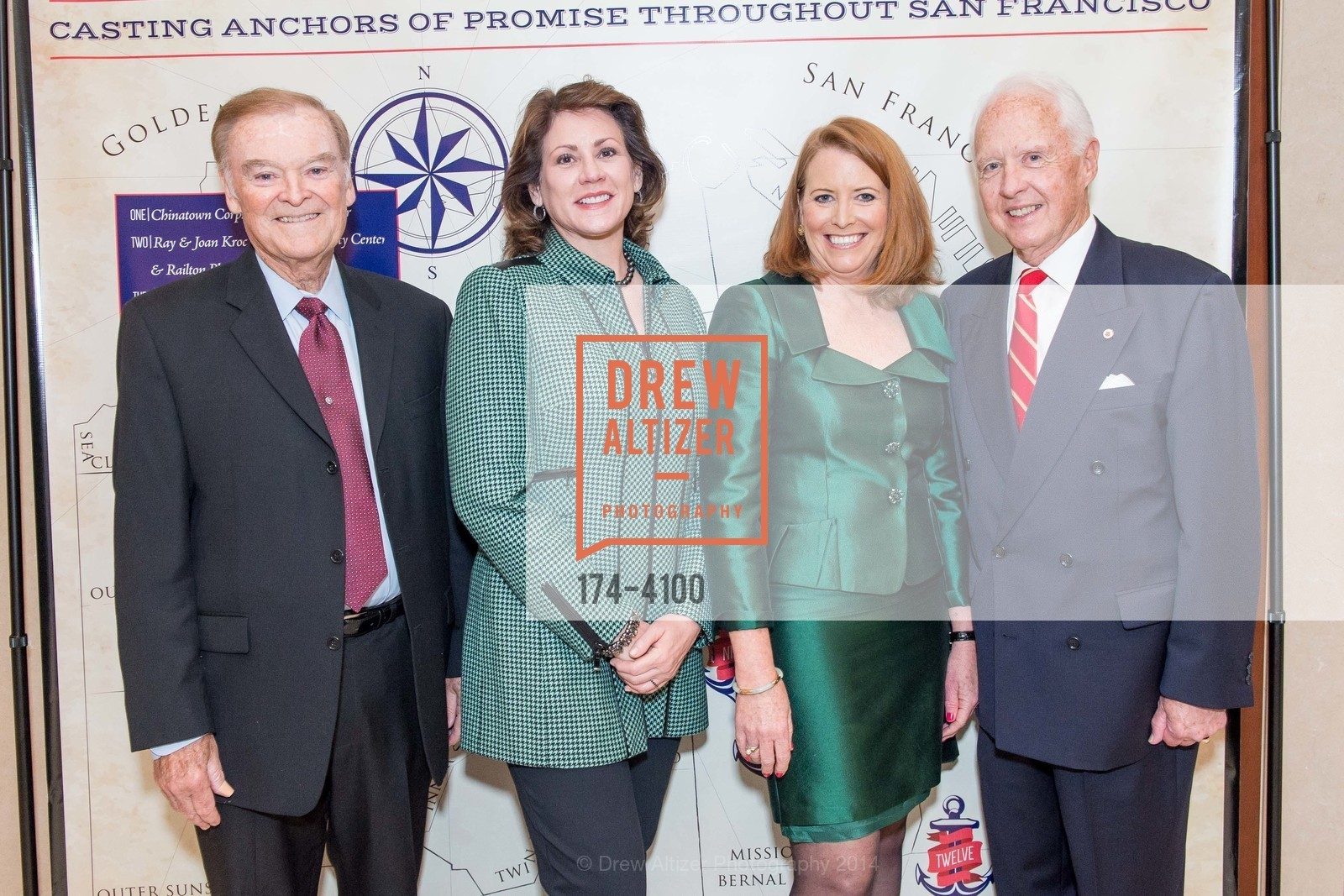 The Honorable Mayor Frank Jordan, Jannine Vaughn, RADM John Bitoff, Photo #174-4100