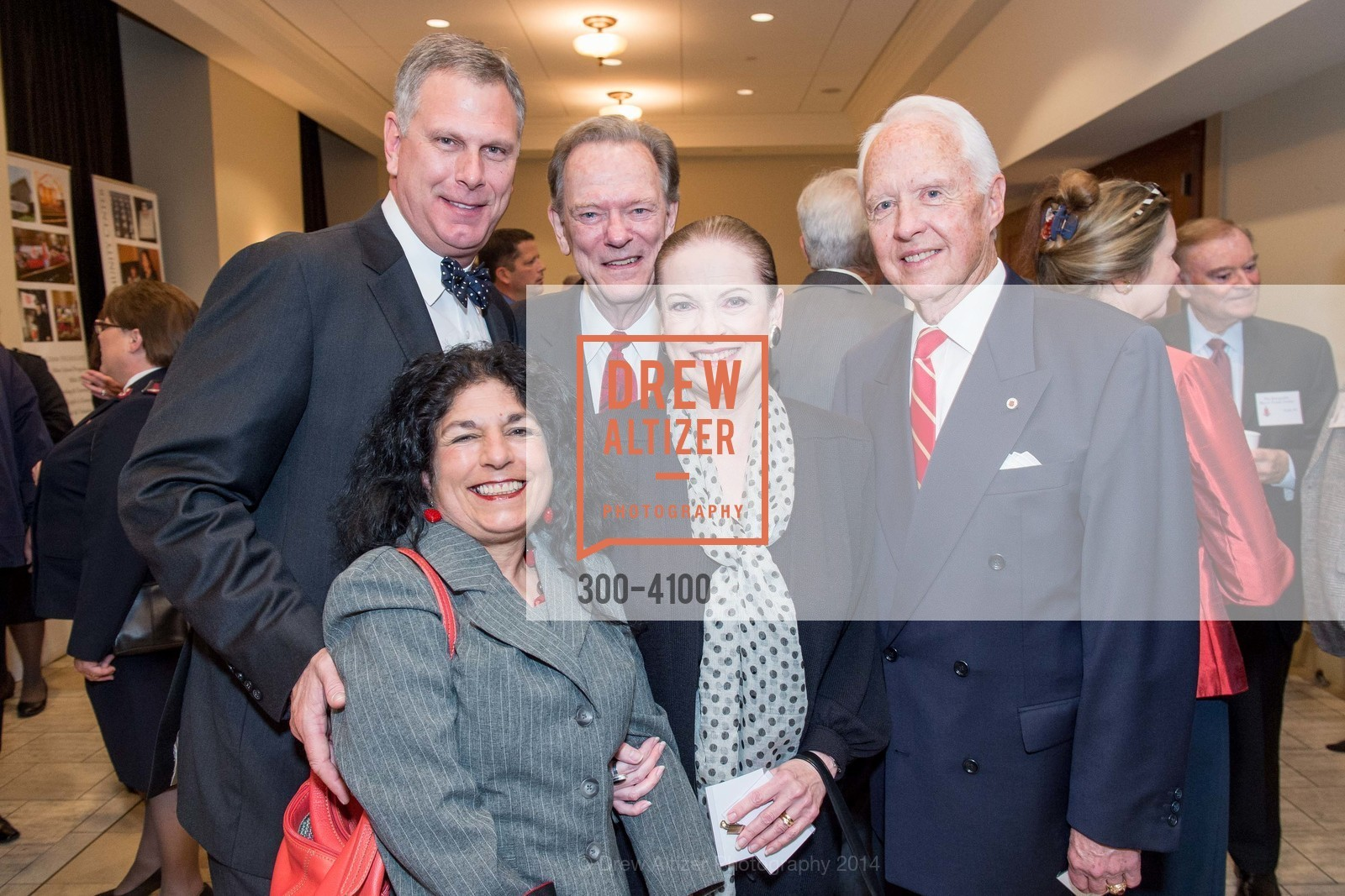 Ernst Bauer, Phyllis Nabhan, Fred LaCosse, Terry Lowry, RADM John Bitoff, Photo #300-4100