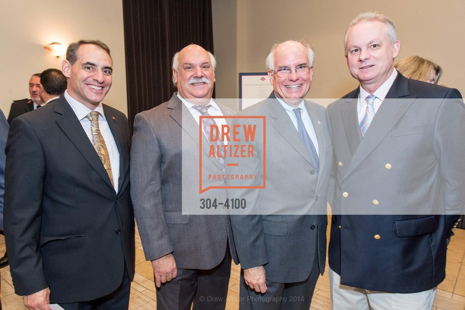 John McKnight, Rich Borghello, Pete Ratto, Cdr. Richard Corriea, Photo #304-4100