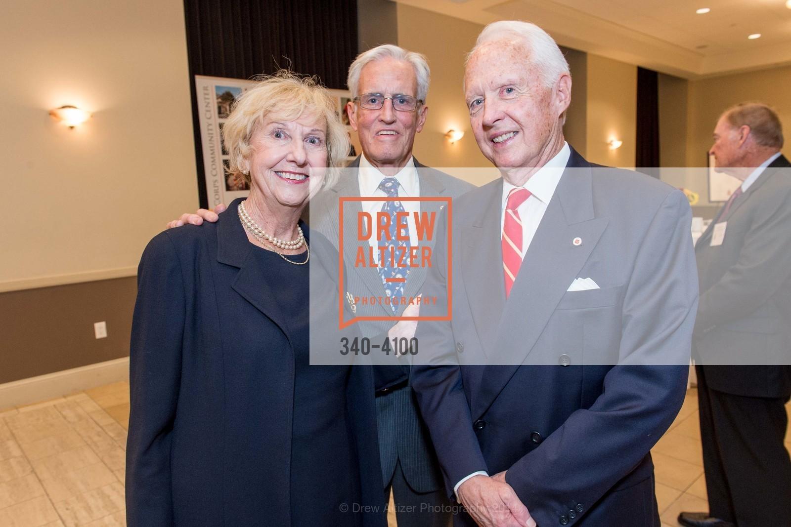 Judith Heuser, Fred Heuser, RADM John Bitoff, Photo #340-4100