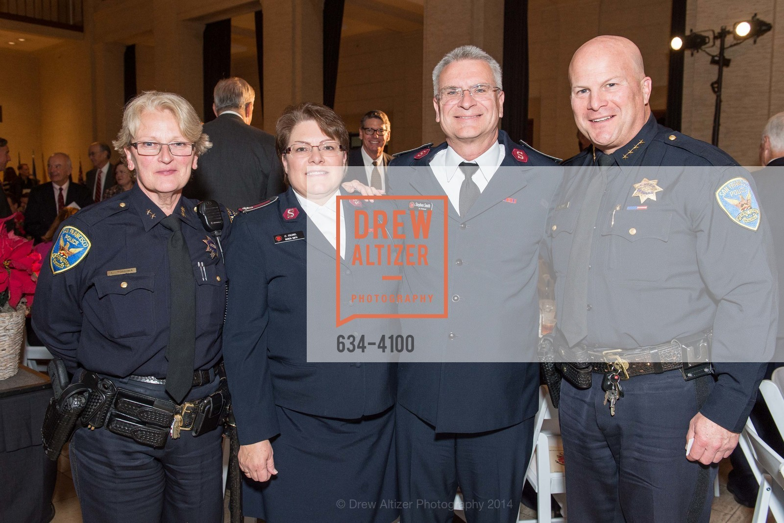 Lyn Tomioka, Lt.Col. Marcia Smith, Lt.Col. Stephen Smith, Greg Suhr, Photo #634-4100