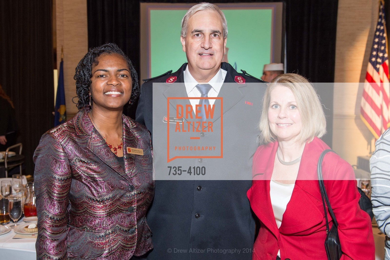 Monifa Kelly, Maj. Randy Kinnamon, Leslie Bauer, Photo #735-4100