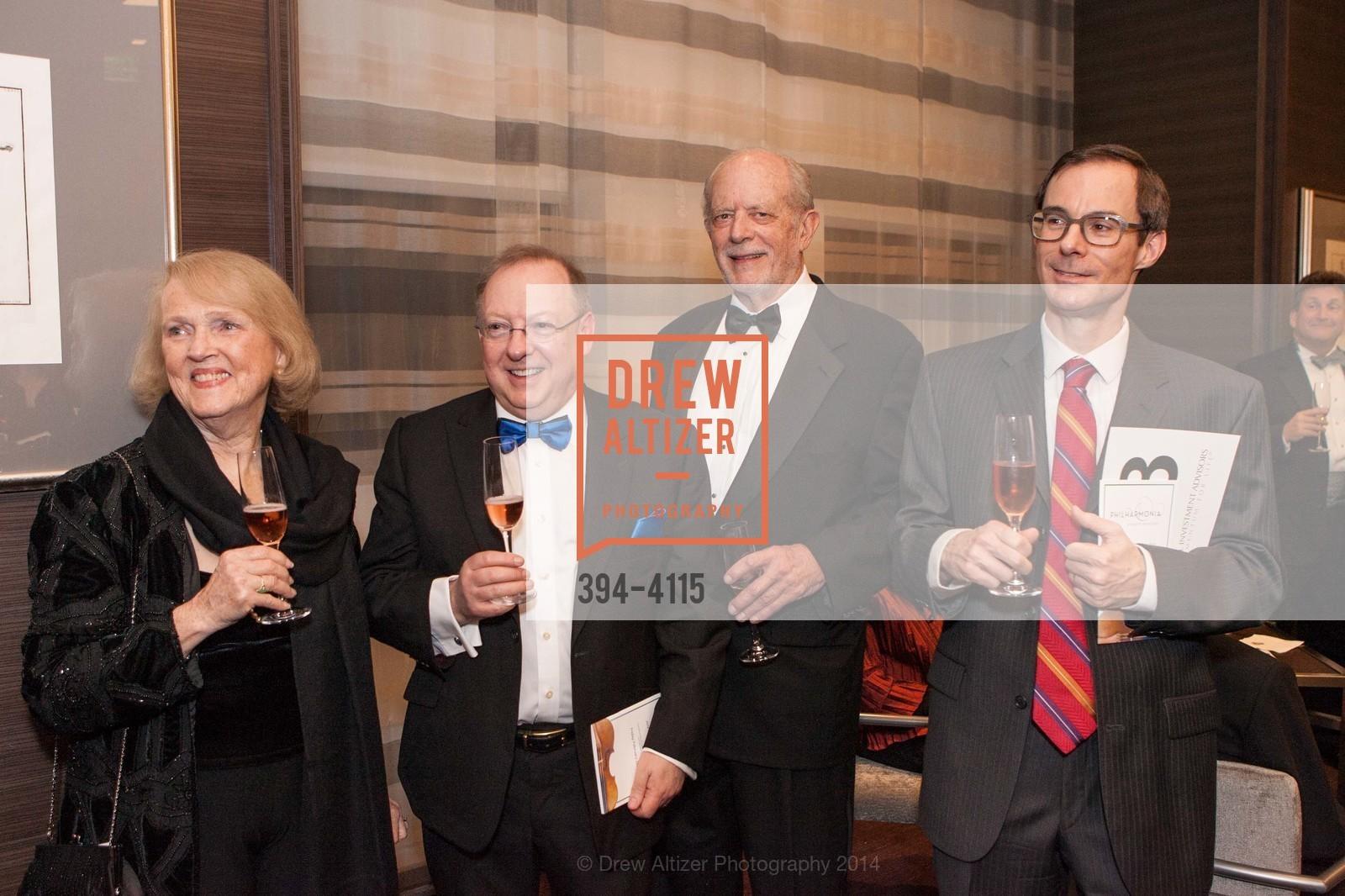 Kay Sprinkel Grace, Nicholas McGegan, Dick Martin, David Bowes, Photo #394-4115
