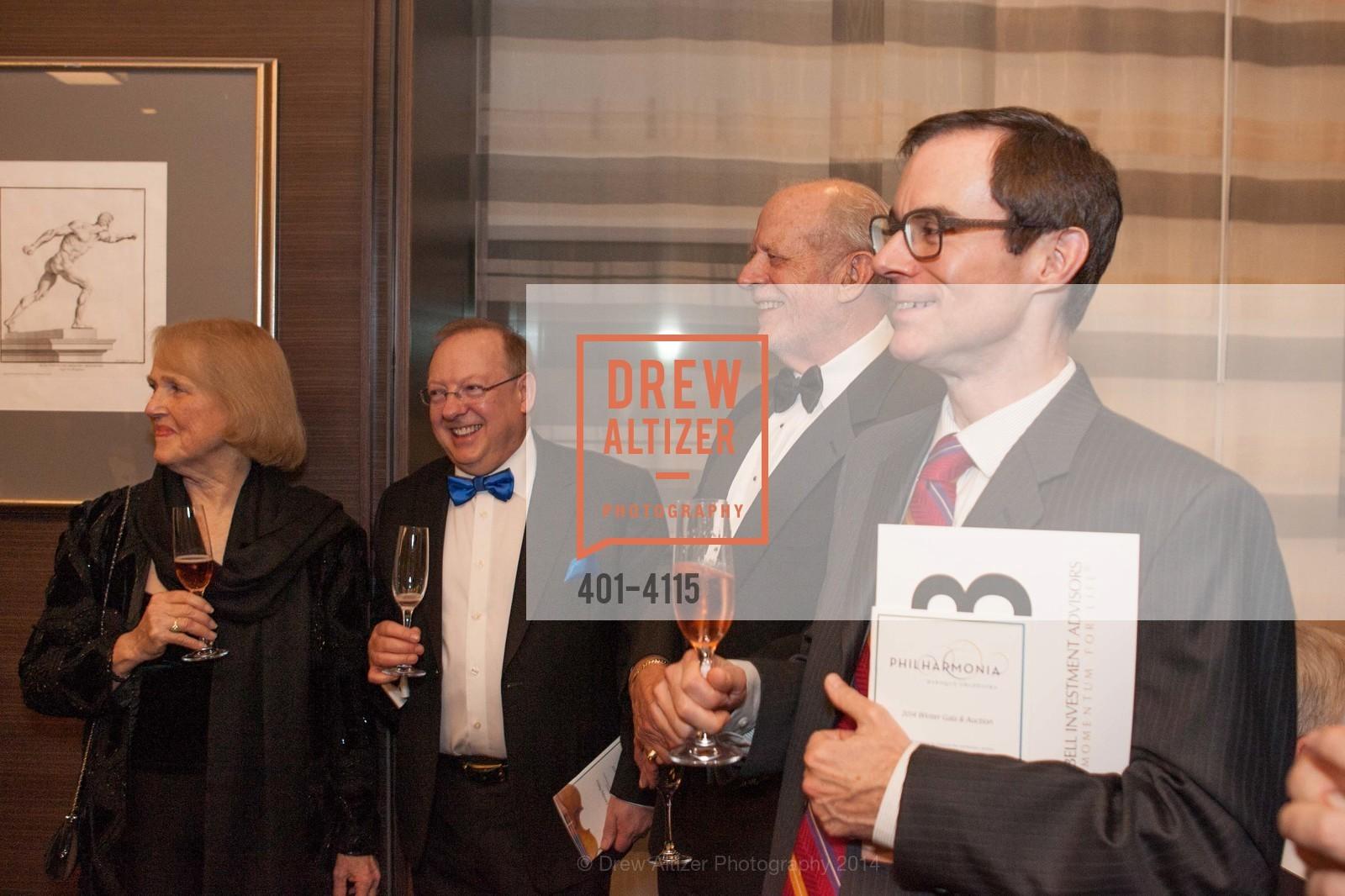 Kay Sprinkel Grace, Nicholas McGegan, Dick Martin, David Bowes, Photo #401-4115