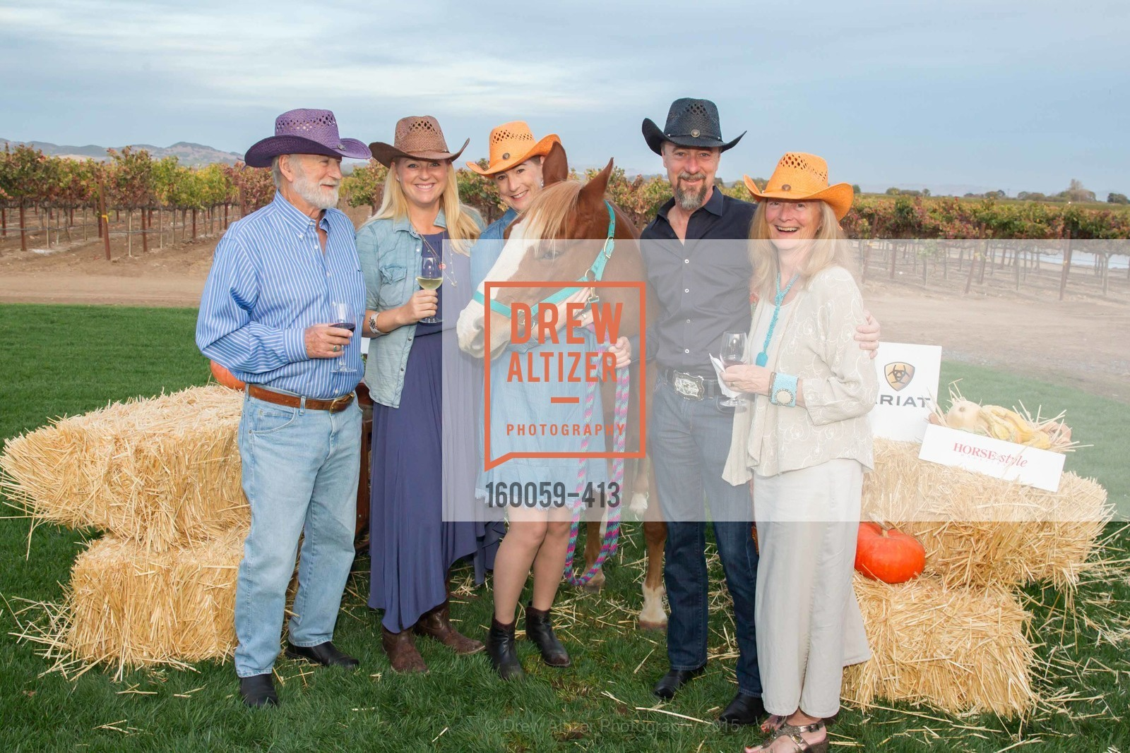 Bill Sell-Lee, Sarah Appel, Terri Roberson, Chip Roberson, Sandy Sell-Lee, A Harvest Barn Dance at Cornerstone Presented By Giant Steps Therapeutic Equestrian Center, Cornerstone Sonoma. 23570 Arnold Dr, October 24th, 2015,Drew Altizer, Drew Altizer Photography, full-service agency, private events, San Francisco photographer, photographer california