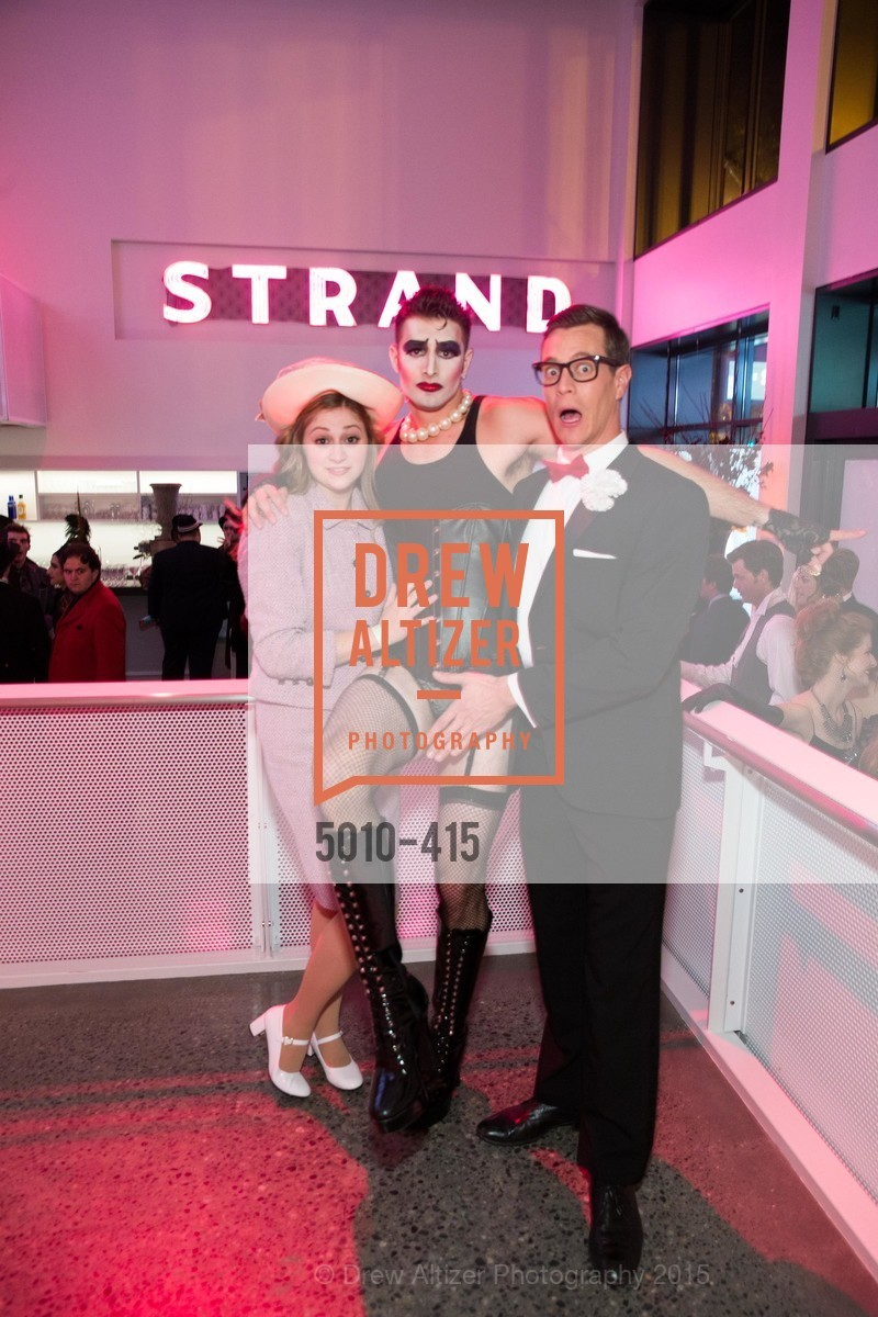 Julie Adamo, Justin Genna, Stephen Wattrus, SPOOKED AT THE STRAND Presented by the American Conservatory Theater, The Strand Theater. 1127 Market Street, October 26th, 2015,Drew Altizer, Drew Altizer Photography, full-service agency, private events, San Francisco photographer, photographer california