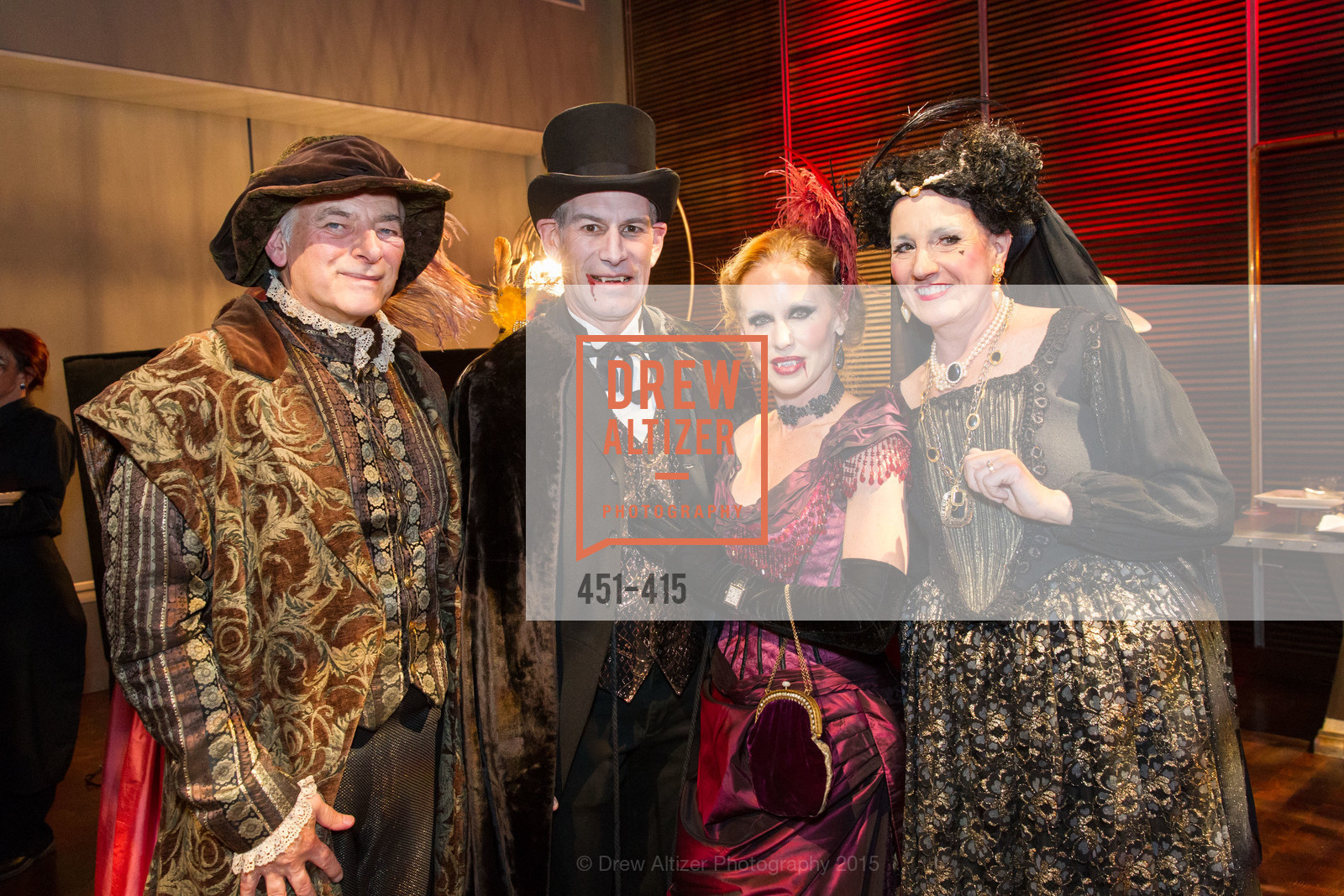 Steve Cookston, Chris Hollenbeck, Holly Hollenbeck, Shirley Cookston, SPOOKED AT THE STRAND Presented by the American Conservatory Theater, The Strand Theater. 1127 Market Street, October 26th, 2015,Drew Altizer, Drew Altizer Photography, full-service agency, private events, San Francisco photographer, photographer california