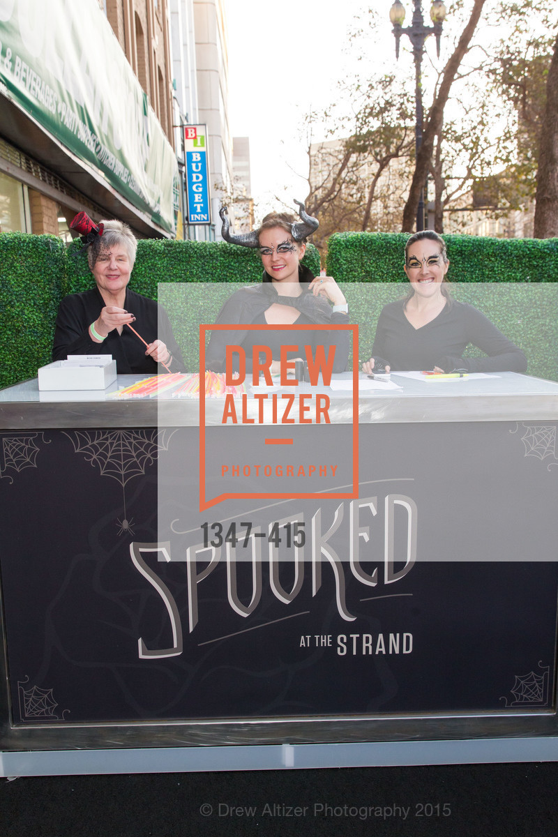 Betty Hoener, Eliza Andrews, Sarah Armstrong, SPOOKED AT THE STRAND Presented by the American Conservatory Theater, The Strand Theater. 1127 Market Street, October 26th, 2015,Drew Altizer, Drew Altizer Photography, full-service agency, private events, San Francisco photographer, photographer california