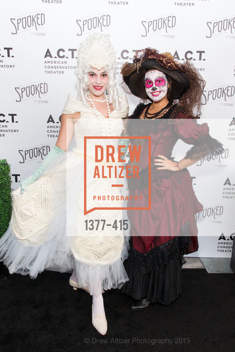 Diana Gonzalez Murrett, Beatriz Miranda Torres, SPOOKED AT THE STRAND Presented by the American Conservatory Theater, The Strand Theater. 1127 Market Street, October 26th, 2015,Drew Altizer, Drew Altizer Photography, full-service agency, private events, San Francisco photographer, photographer california