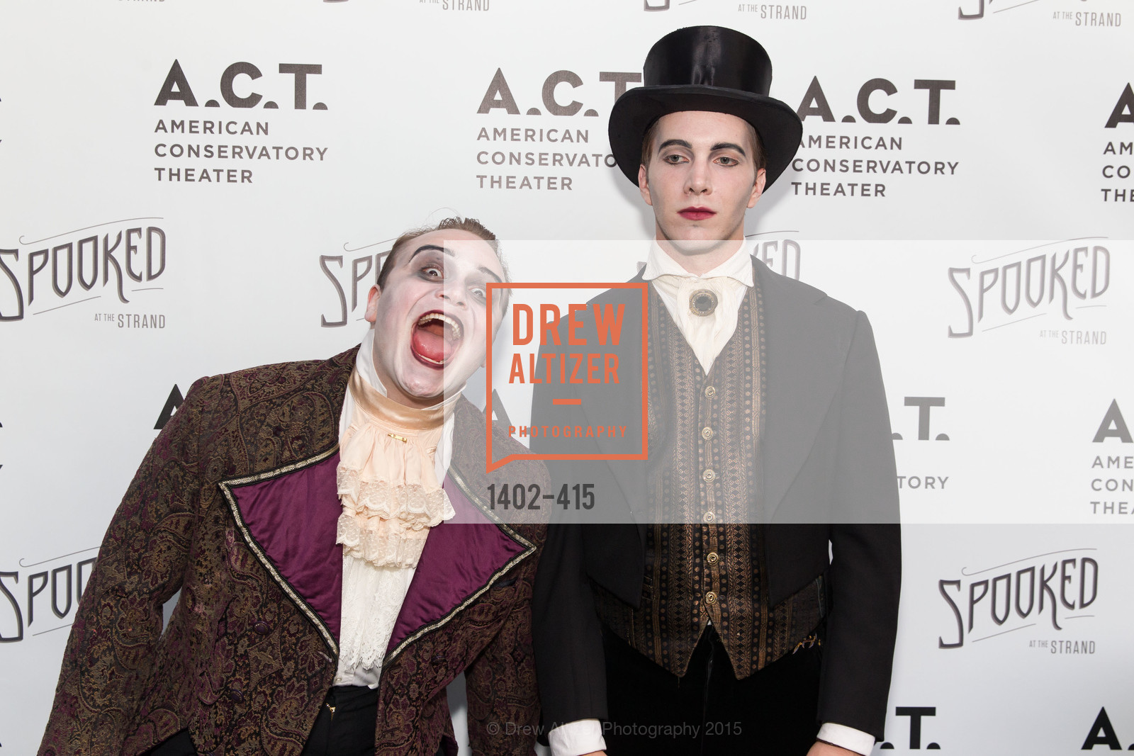 Peter Fanone, Justin Keim, SPOOKED AT THE STRAND Presented by the American Conservatory Theater, The Strand Theater. 1127 Market Street, October 26th, 2015,Drew Altizer, Drew Altizer Photography, full-service agency, private events, San Francisco photographer, photographer california