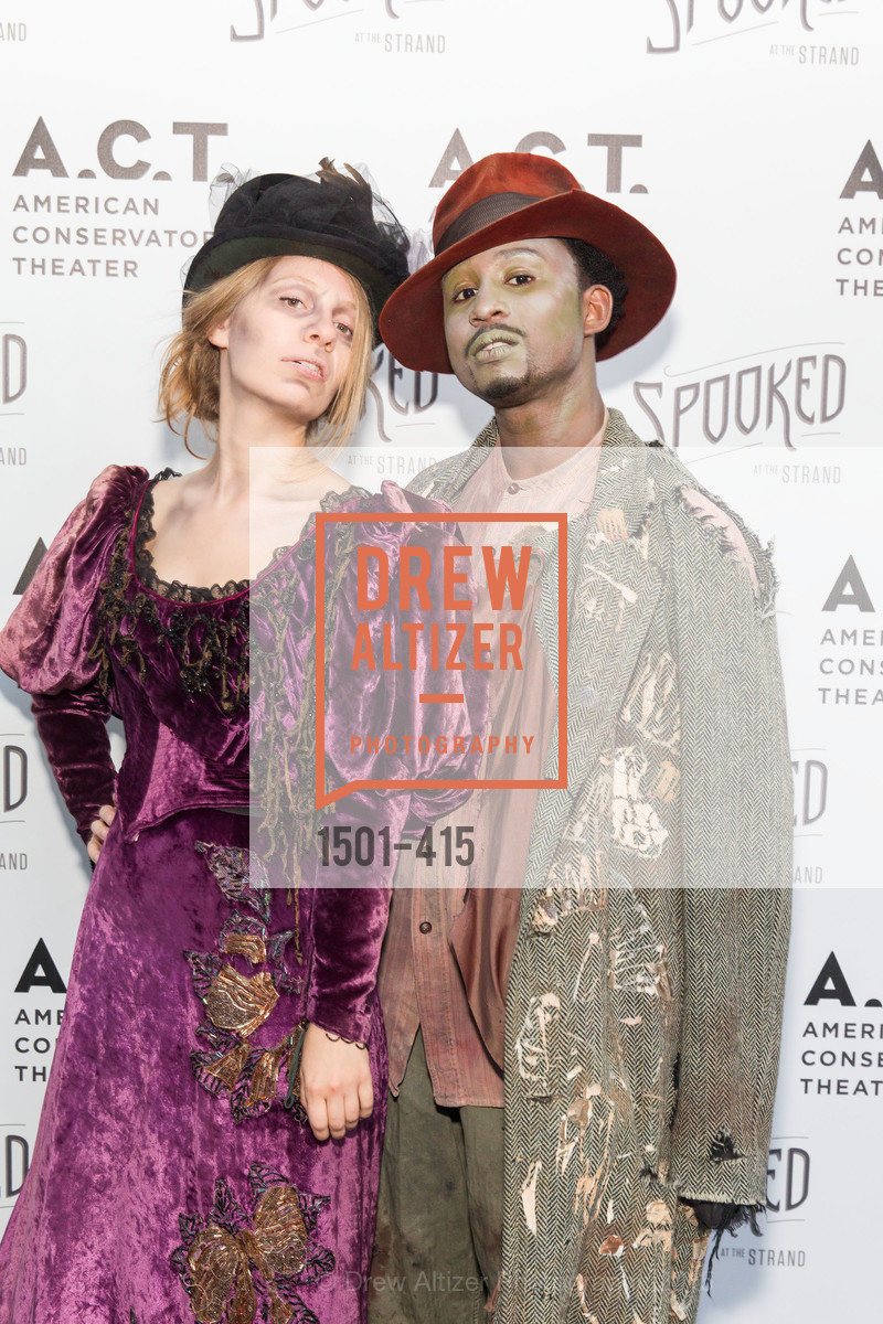 Rivka Borek, Kadeem Harris, SPOOKED AT THE STRAND Presented by the American Conservatory Theater, The Strand Theater. 1127 Market Street, October 26th, 2015,Drew Altizer, Drew Altizer Photography, full-service agency, private events, San Francisco photographer, photographer california