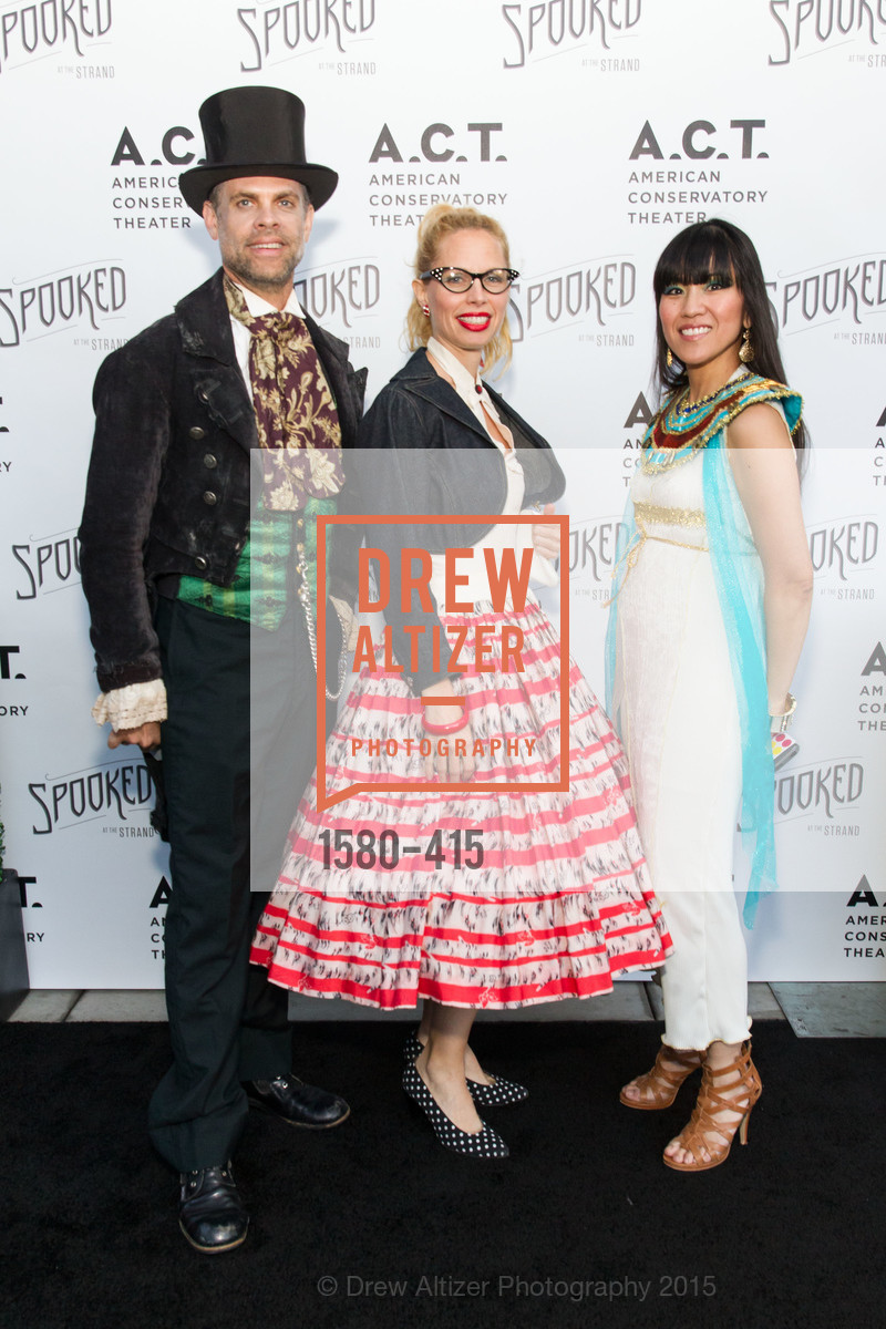 Austin Forbord, Eve Petrucci, Rachelle Turrell, SPOOKED AT THE STRAND Presented by the American Conservatory Theater, The Strand Theater. 1127 Market Street, October 26th, 2015,Drew Altizer, Drew Altizer Photography, full-service agency, private events, San Francisco photographer, photographer california