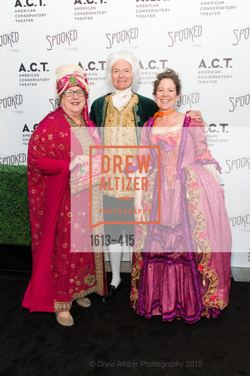 Linda Jo Fitz, Kirke Hasson, Nancy Sawyer Hasson, SPOOKED AT THE STRAND Presented by the American Conservatory Theater, The Strand Theater. 1127 Market Street, October 26th, 2015,Drew Altizer, Drew Altizer Photography, full-service agency, private events, San Francisco photographer, photographer california
