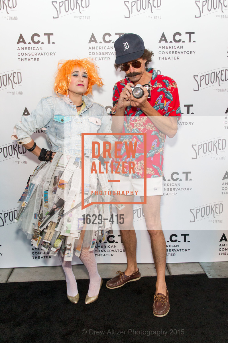 Cielle Taaffe, Patrick Spurgeon, SPOOKED AT THE STRAND Presented by the American Conservatory Theater, The Strand Theater. 1127 Market Street, October 26th, 2015,Drew Altizer, Drew Altizer Photography, full-service agency, private events, San Francisco photographer, photographer california