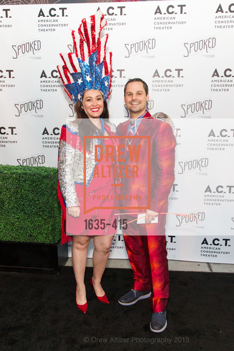 Heather Cassady, David Martin, SPOOKED AT THE STRAND Presented by the American Conservatory Theater, The Strand Theater. 1127 Market Street, October 26th, 2015,Drew Altizer, Drew Altizer Photography, full-service agency, private events, San Francisco photographer, photographer california