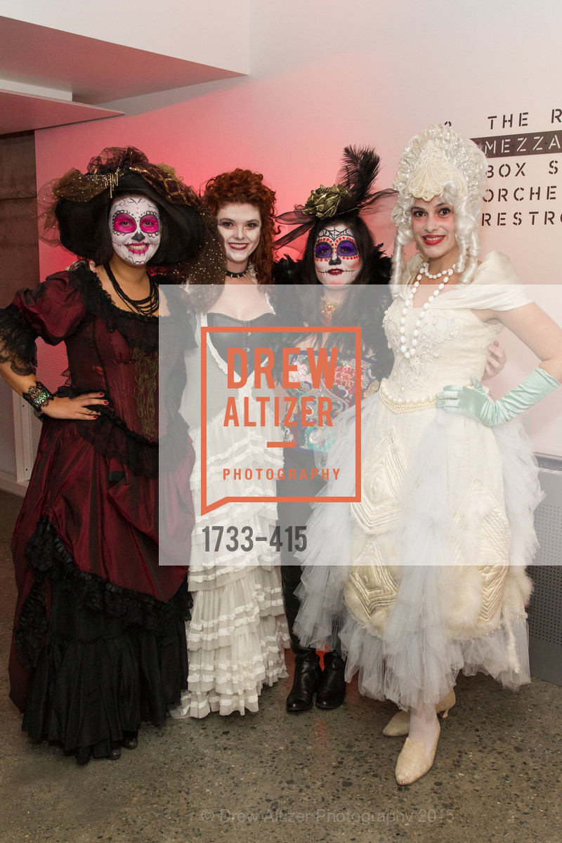 Beatriz Miranda Torres, Alexa Erbach, Norea Kang, Diana Gonzalez Murrett, SPOOKED AT THE STRAND Presented by the American Conservatory Theater, The Strand Theater. 1127 Market Street, October 26th, 2015,Drew Altizer, Drew Altizer Photography, full-service agency, private events, San Francisco photographer, photographer california