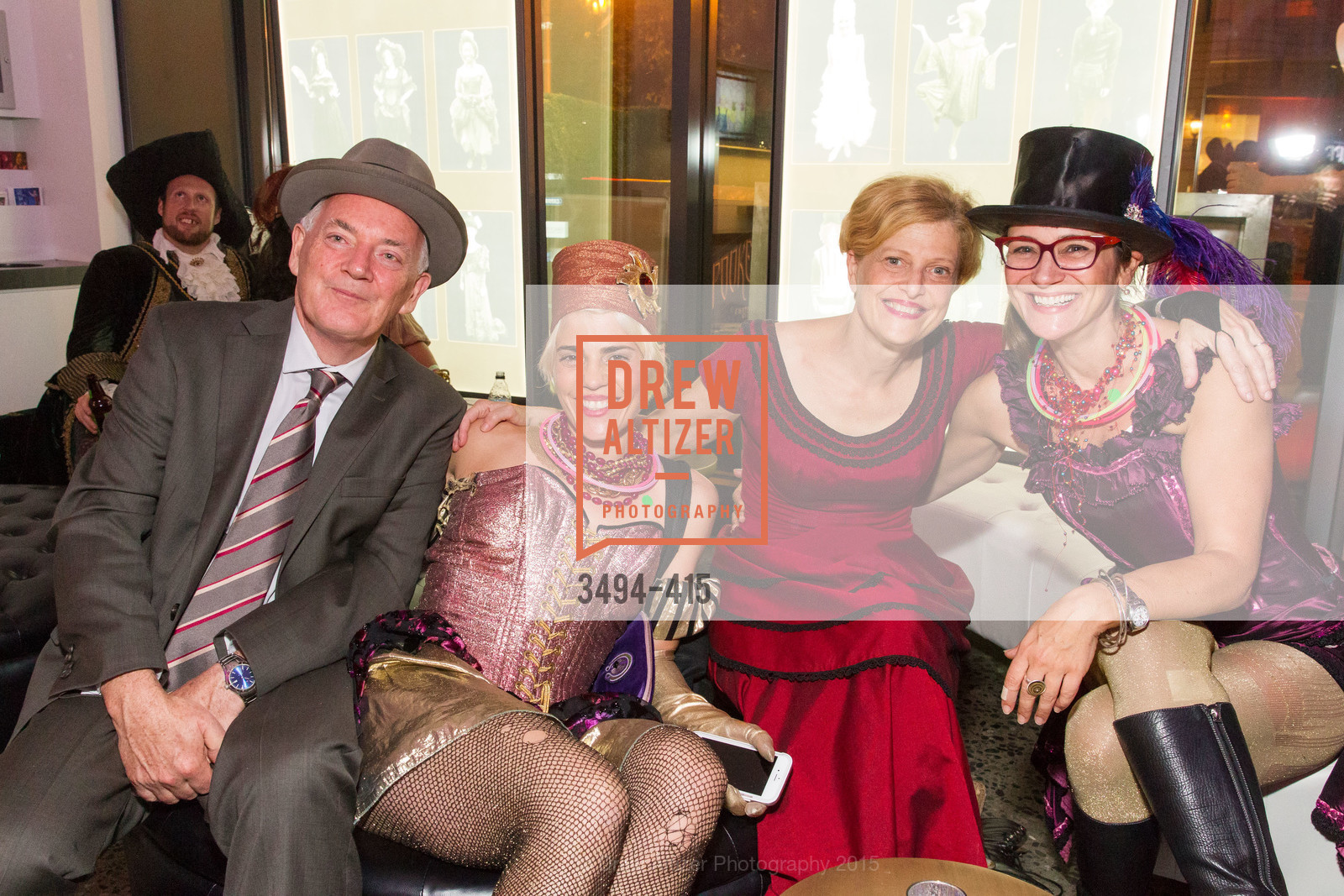 Anthony Giles, Adriana Permut, Carey Perloff, Elise Alexander, SPOOKED AT THE STRAND Presented by the American Conservatory Theater, The Strand Theater. 1127 Market Street, October 26th, 2015,Drew Altizer, Drew Altizer Photography, full-service agency, private events, San Francisco photographer, photographer california