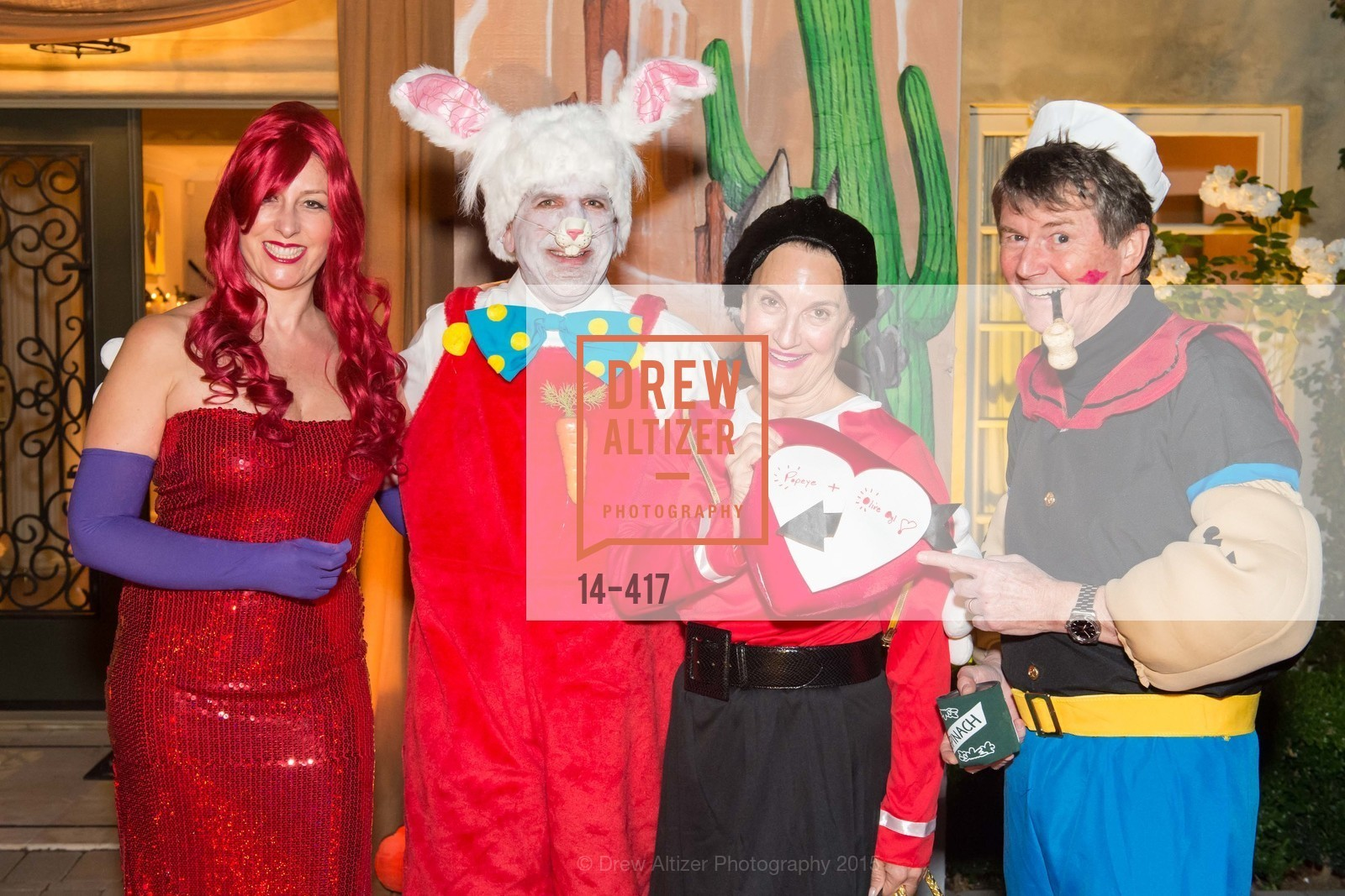 Ginny Ziegler, Bob Federighi, Debby Sagues, Paul Sagues, Wolfson-Federighi Cartoon Costume Party, Private Residence. 737 Bay Road, October 24th, 2015,Drew Altizer, Drew Altizer Photography, full-service agency, private events, San Francisco photographer, photographer california