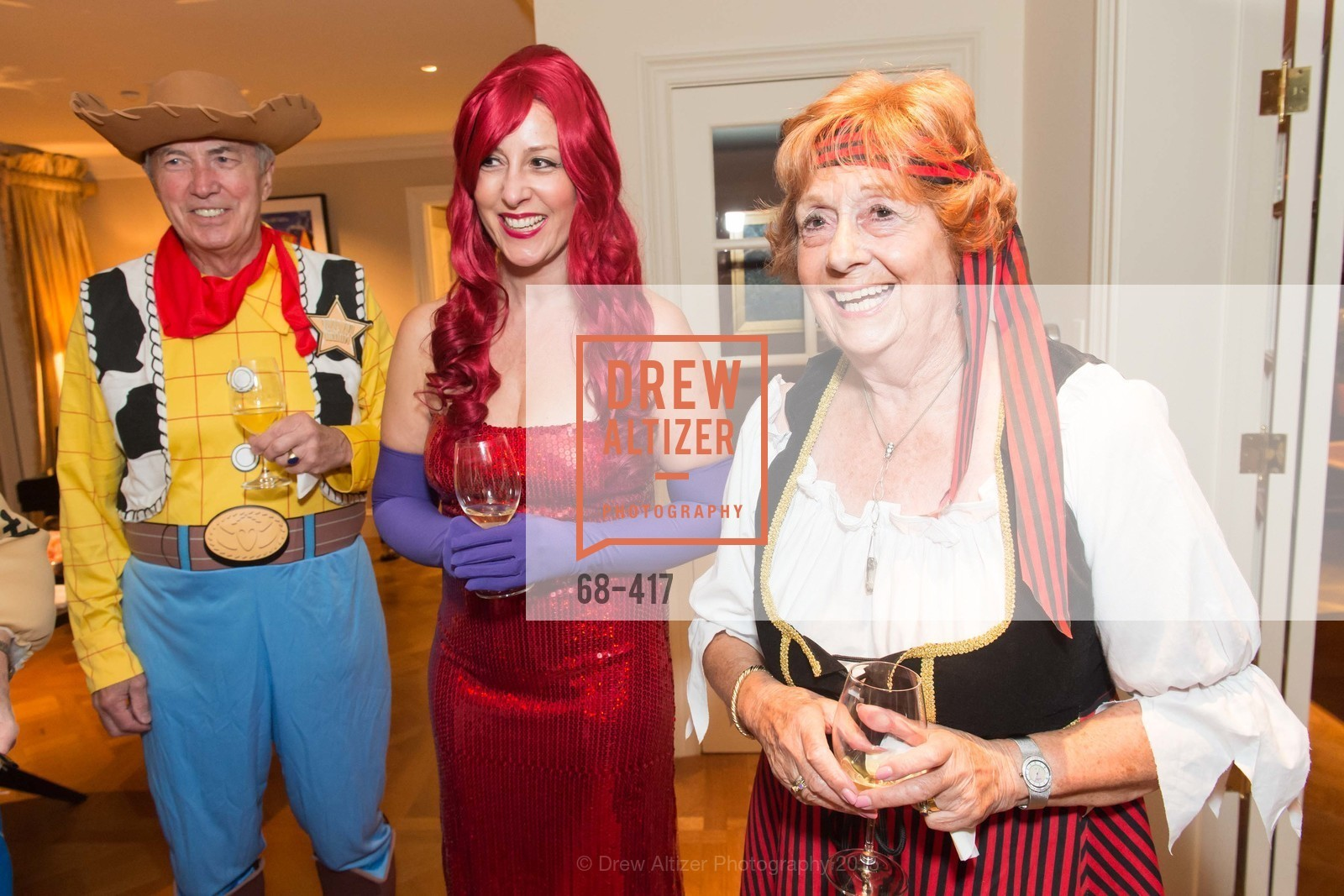 Ian Cartwright, Ginny Ziegler, Jean Cartwright, Wolfson-Federighi Cartoon Costume Party, Private Residence. 737 Bay Road, October 24th, 2015,Drew Altizer, Drew Altizer Photography, full-service agency, private events, San Francisco photographer, photographer california