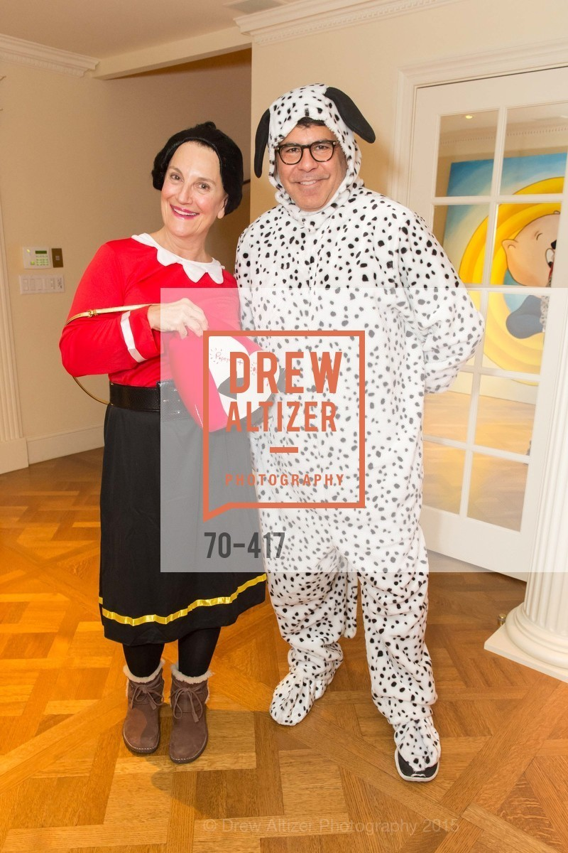Debby Sagues, Gary Garabedian, Wolfson-Federighi Cartoon Costume Party, Private Residence. 737 Bay Road, October 24th, 2015,Drew Altizer, Drew Altizer Photography, full-service agency, private events, San Francisco photographer, photographer california