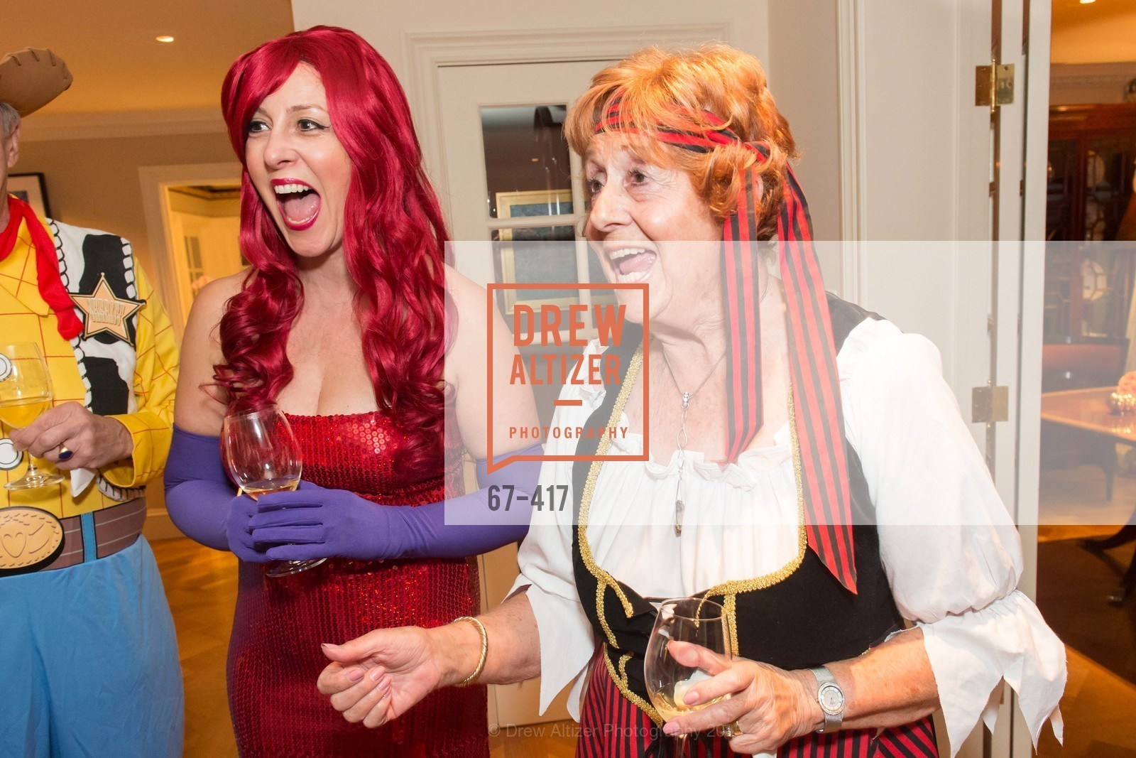 Ginny Ziegler, Jean Cartwright, Wolfson-Federighi Cartoon Costume Party, Private Residence. 737 Bay Road, October 24th, 2015,Drew Altizer, Drew Altizer Photography, full-service agency, private events, San Francisco photographer, photographer california