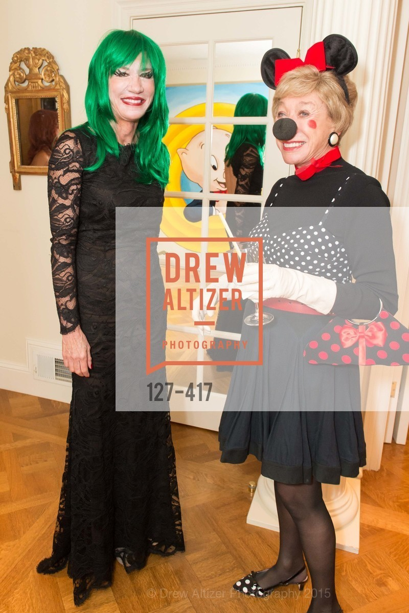 Mary Poland, Maria Pitcairn, Wolfson-Federighi Cartoon Costume Party, Private Residence. 737 Bay Road, October 24th, 2015,Drew Altizer, Drew Altizer Photography, full-service agency, private events, San Francisco photographer, photographer california