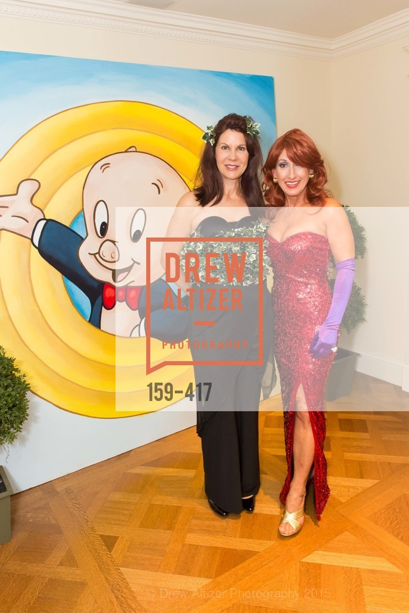 Katie Jarman, Toni Wolfson, Wolfson-Federighi Cartoon Costume Party, Private Residence. 737 Bay Road, October 24th, 2015,Drew Altizer, Drew Altizer Photography, full-service agency, private events, San Francisco photographer, photographer california