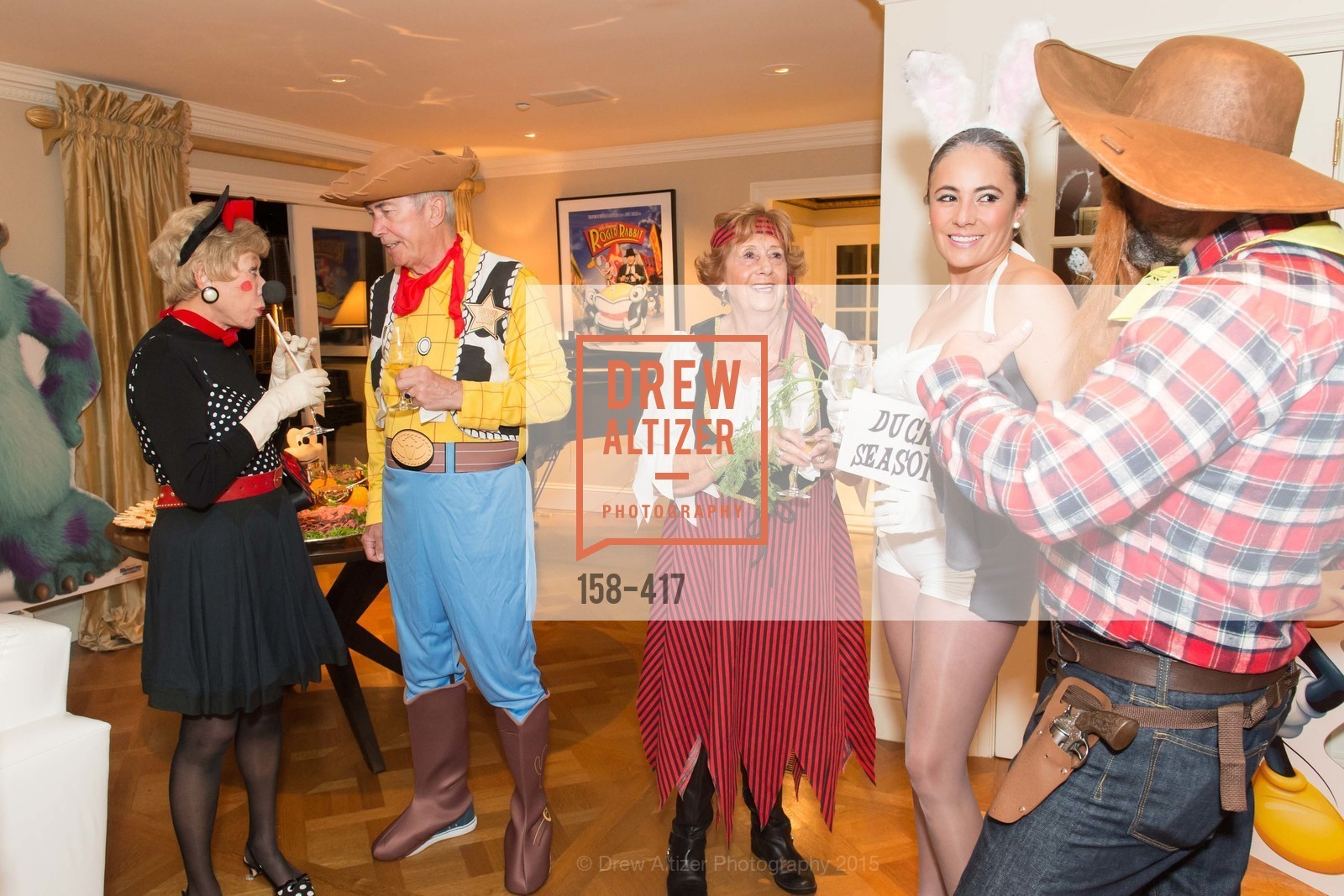 Maria Pitcairn, Ian Cartwright, Jean Cartwright, Marcela Bernal, Wolfson-Federighi Cartoon Costume Party, Private Residence. 737 Bay Road, October 24th, 2015,Drew Altizer, Drew Altizer Photography, full-service agency, private events, San Francisco photographer, photographer california